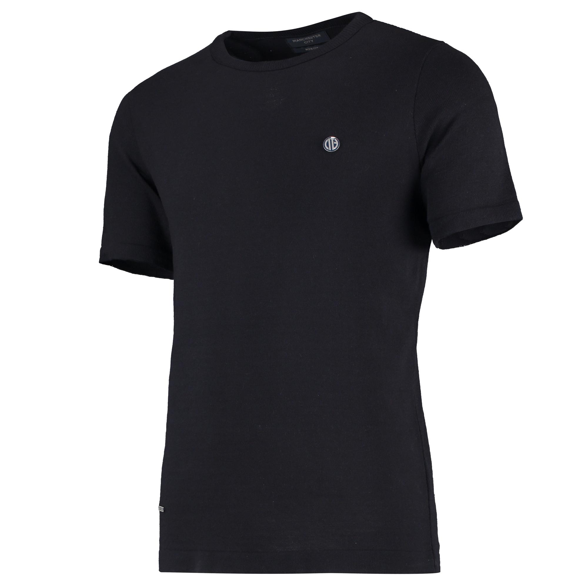 Manchester City Terrace Fine Knit T-Shirt - Navy