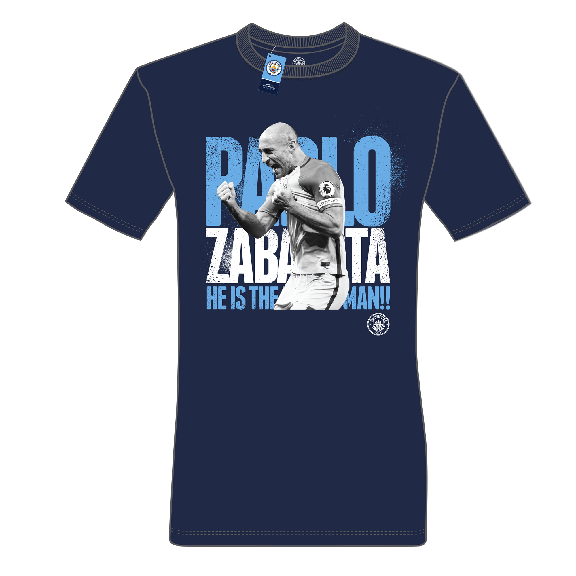 Manchester City Farewell Zabaleta T-Shirt - Navy - Junior