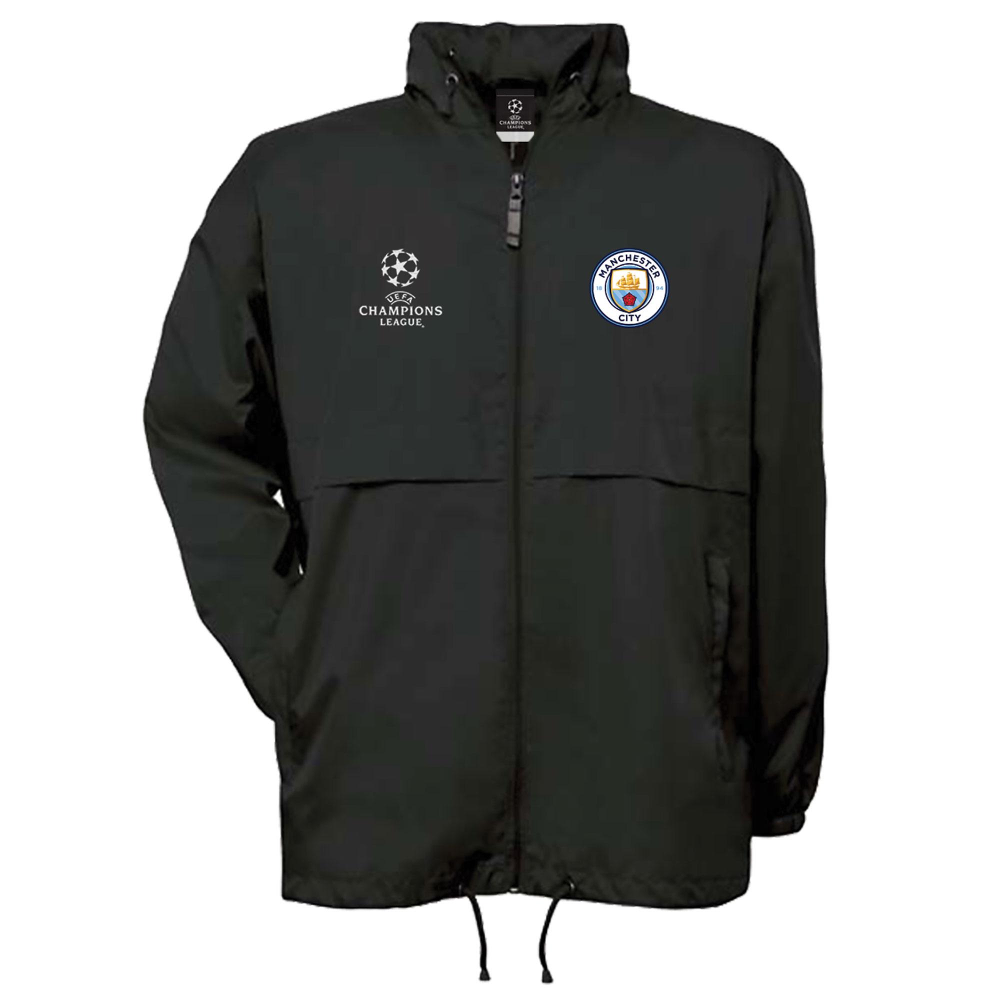 Manchester City UEFA Champions League Windbreaker Jacket - Black - Men