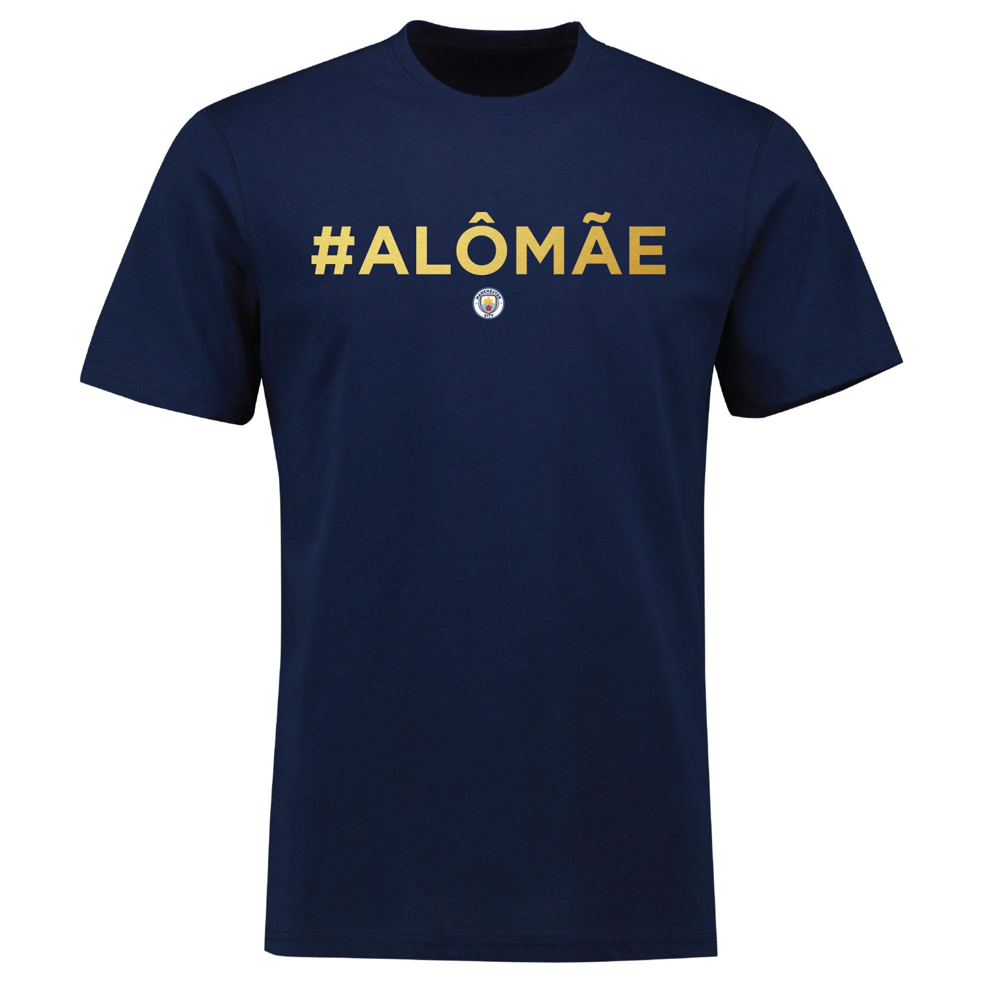 Manchester City Gabriel Jesus ALO MAE Hashtag T Shirt - Womens - Navy