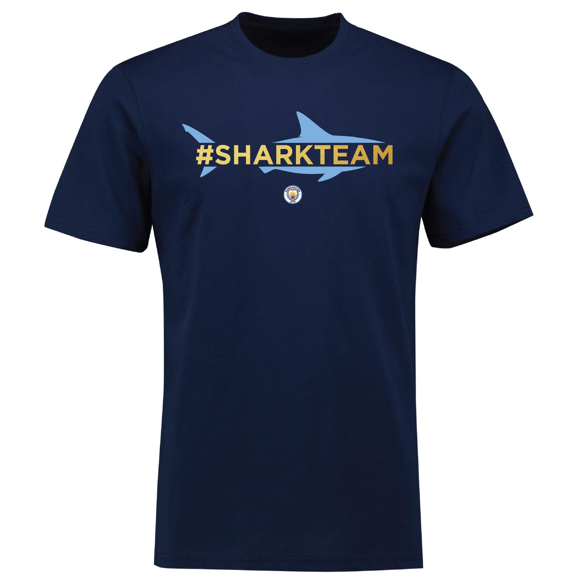 Manchester City Benjamin Mendy SHARK TEAM Hashtag T Shirt - Womens - N