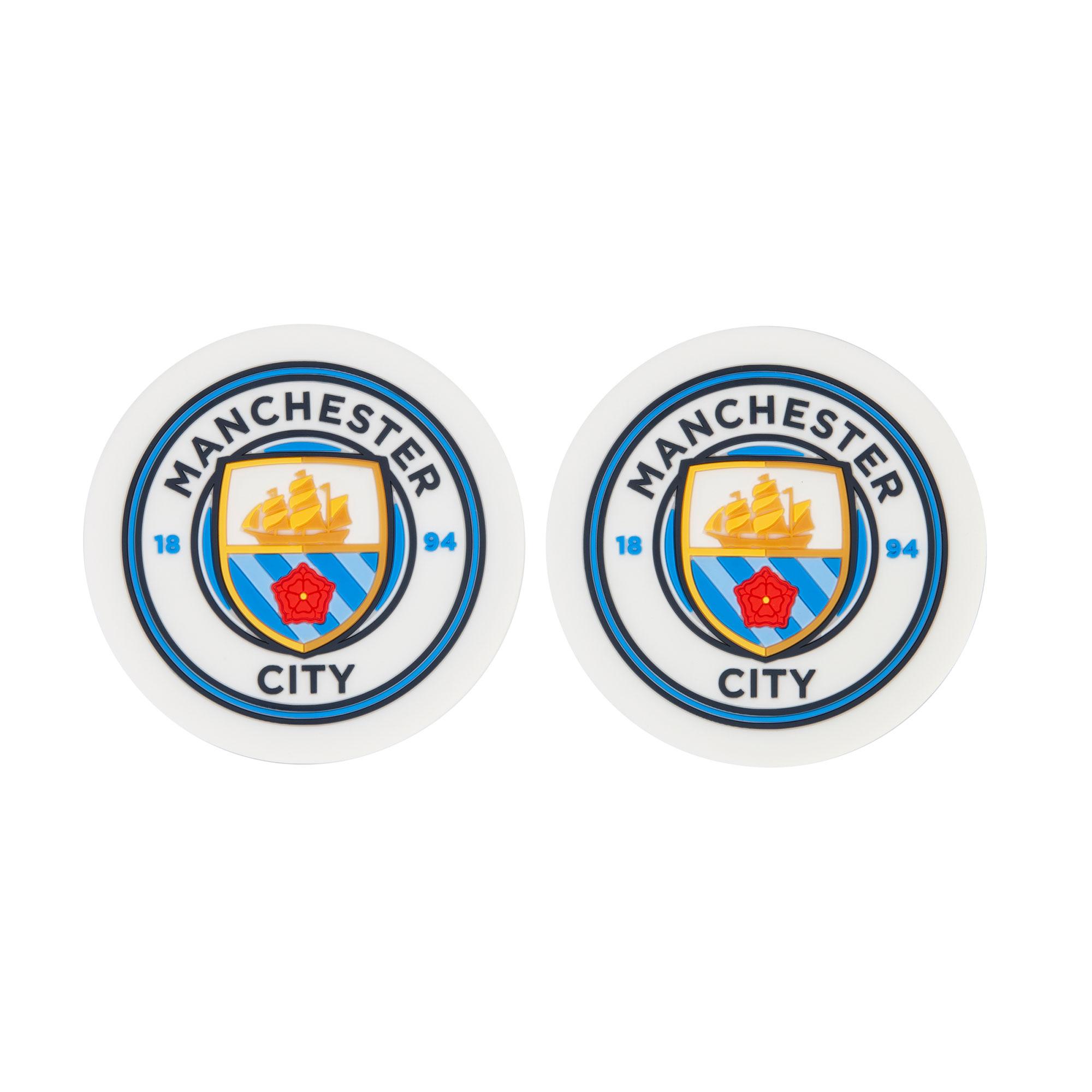 Club Branded / Posavasos de goma del Manchester City - paquete de dos