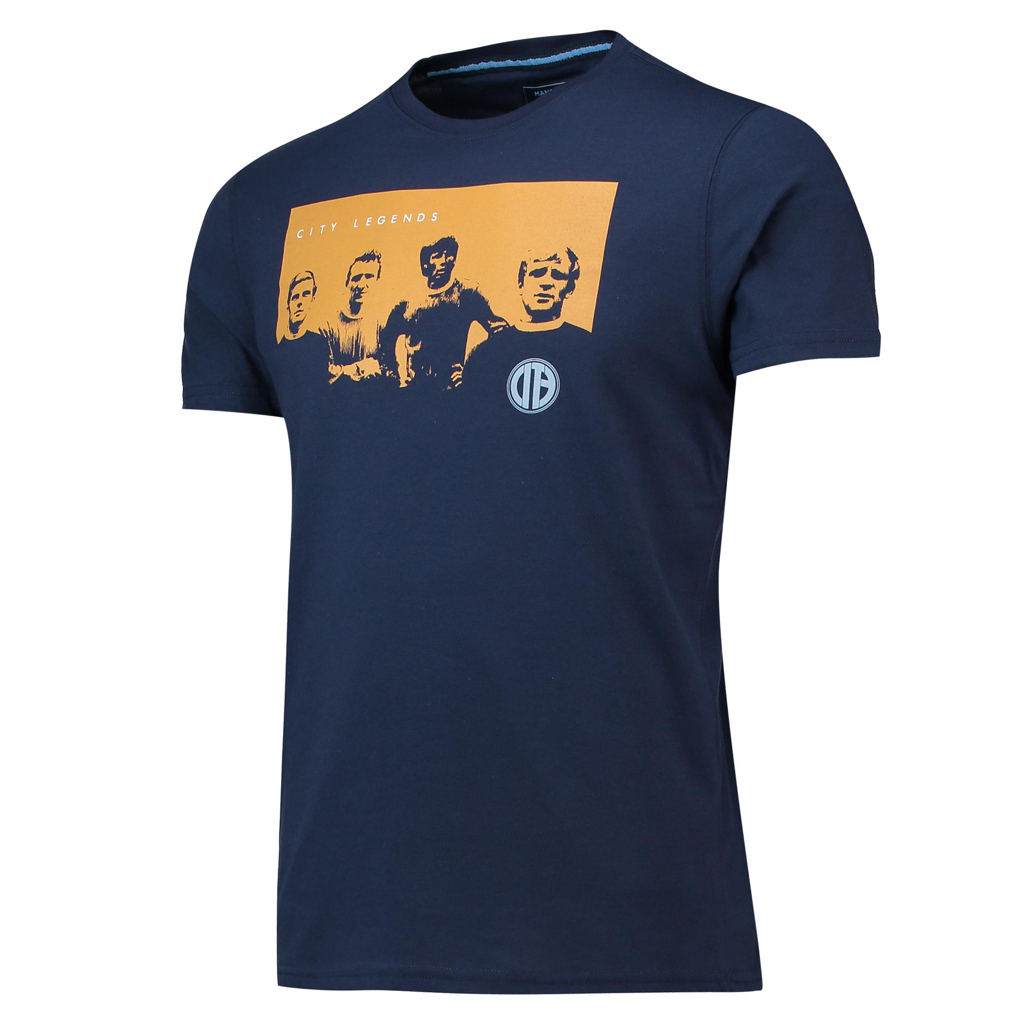 Camiseta City Legends Terrace del Manchester City en azul marino para hombre