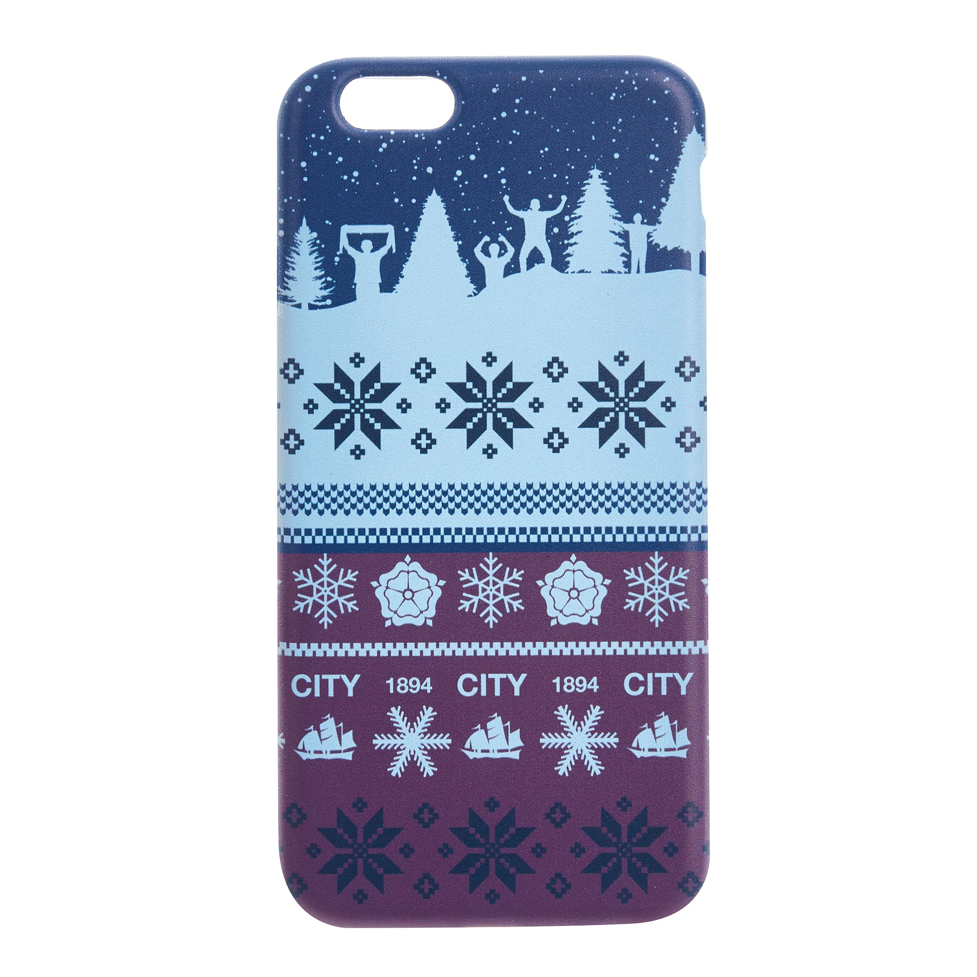 Ecell global Ltd / Manchester City Fan Fairisle Christmas iPhone 6-6S Phone Case