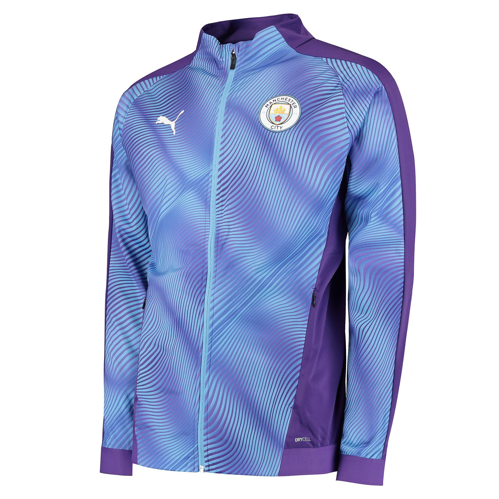Puma / Chaqueta con el estadio del Manchester City - púrpura
