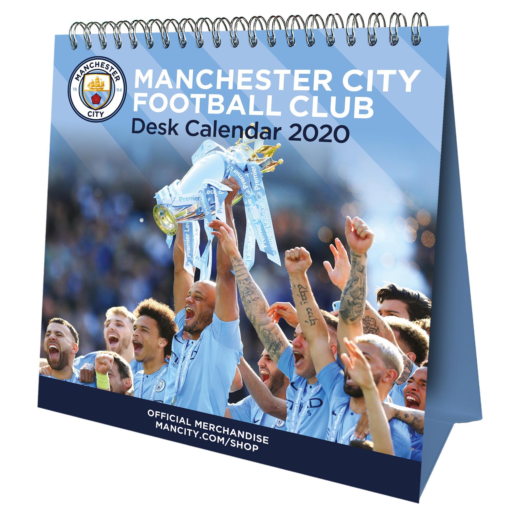 Calendario de escritorio oficial del Manchester City 2020