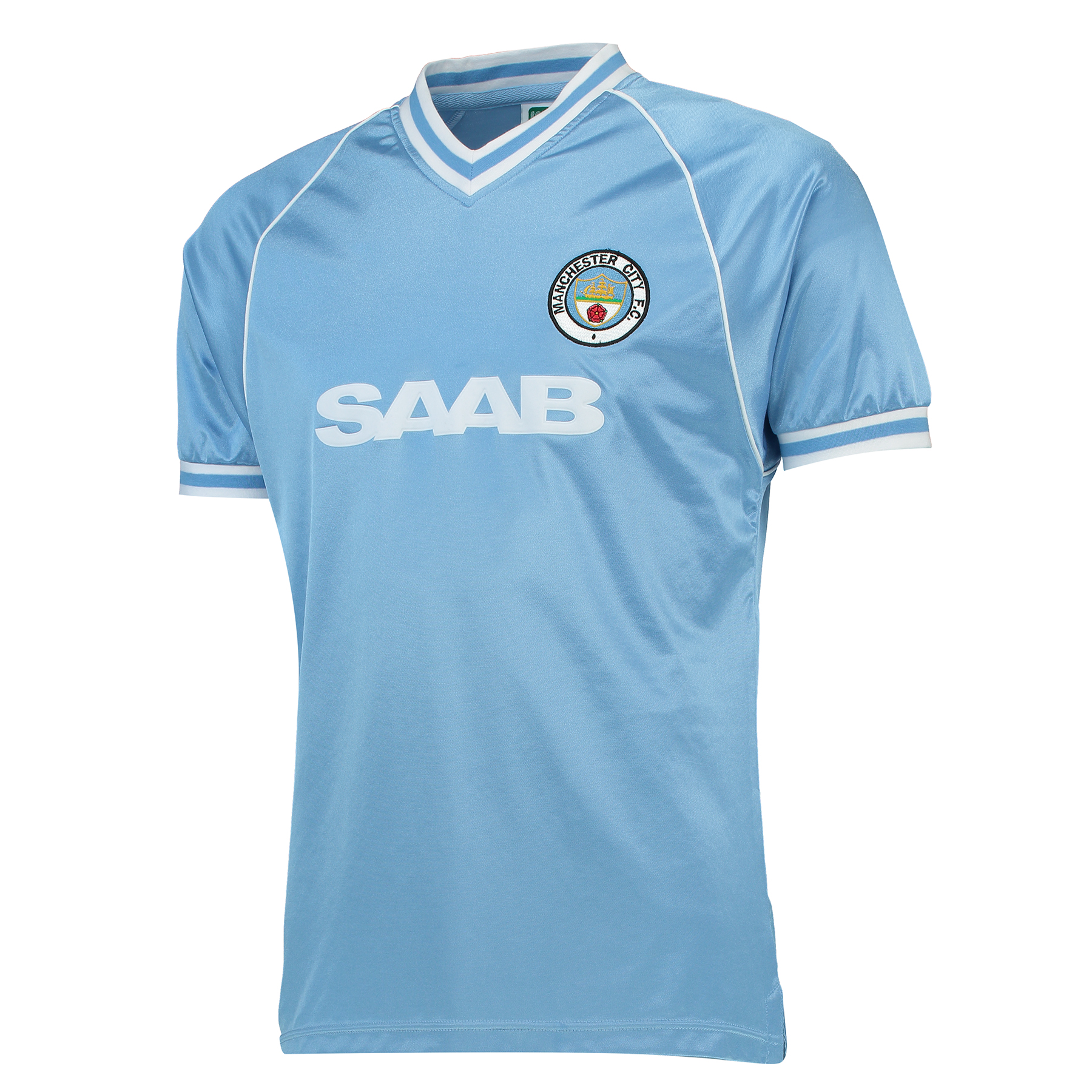 Manchester City 1982 S/S Home Shirt SAAB
