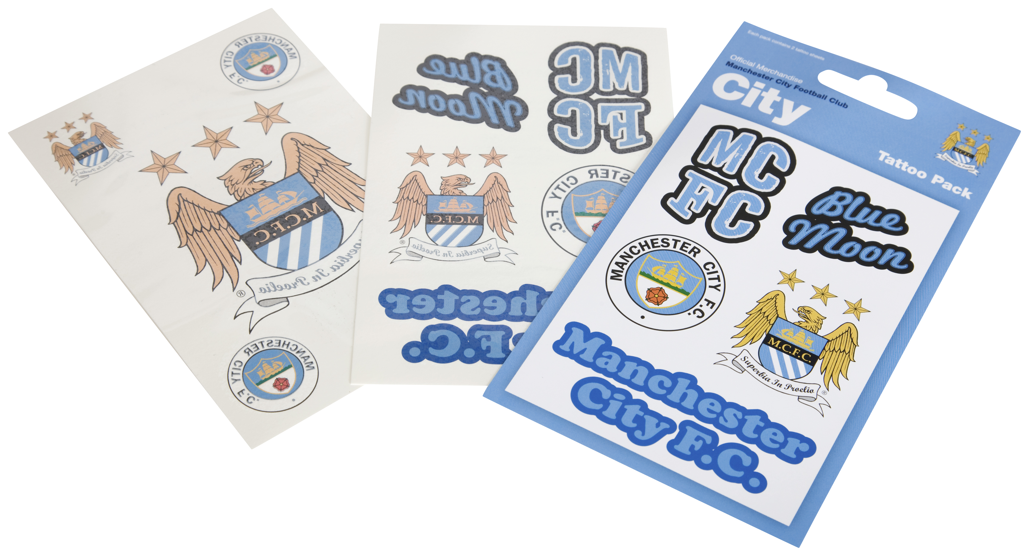 Manchester City Temporary Tattoo Pack Of 10