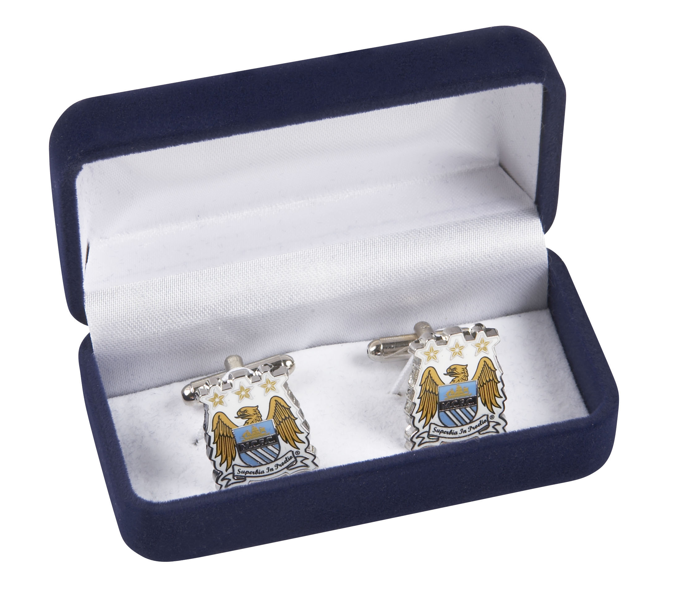 Manchester City Colour Crest Cufflinks