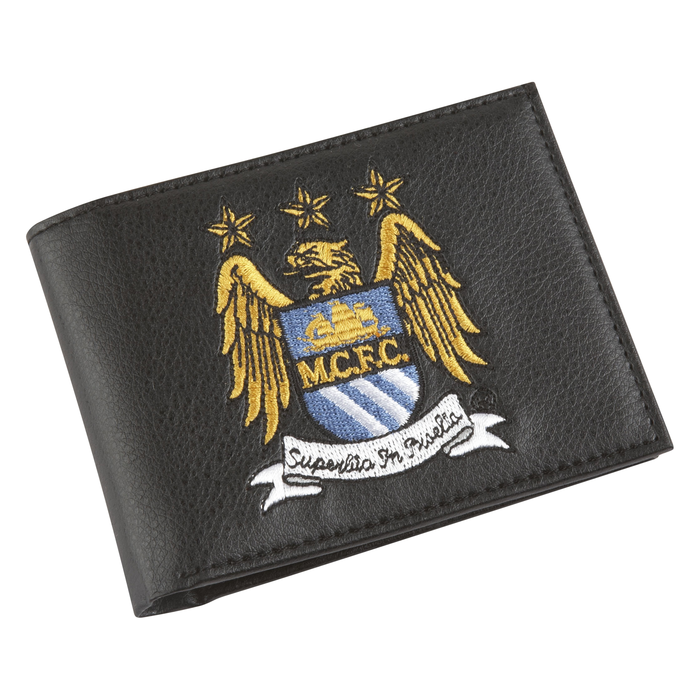 Manchester City Embroidered Crest Wallet - Black