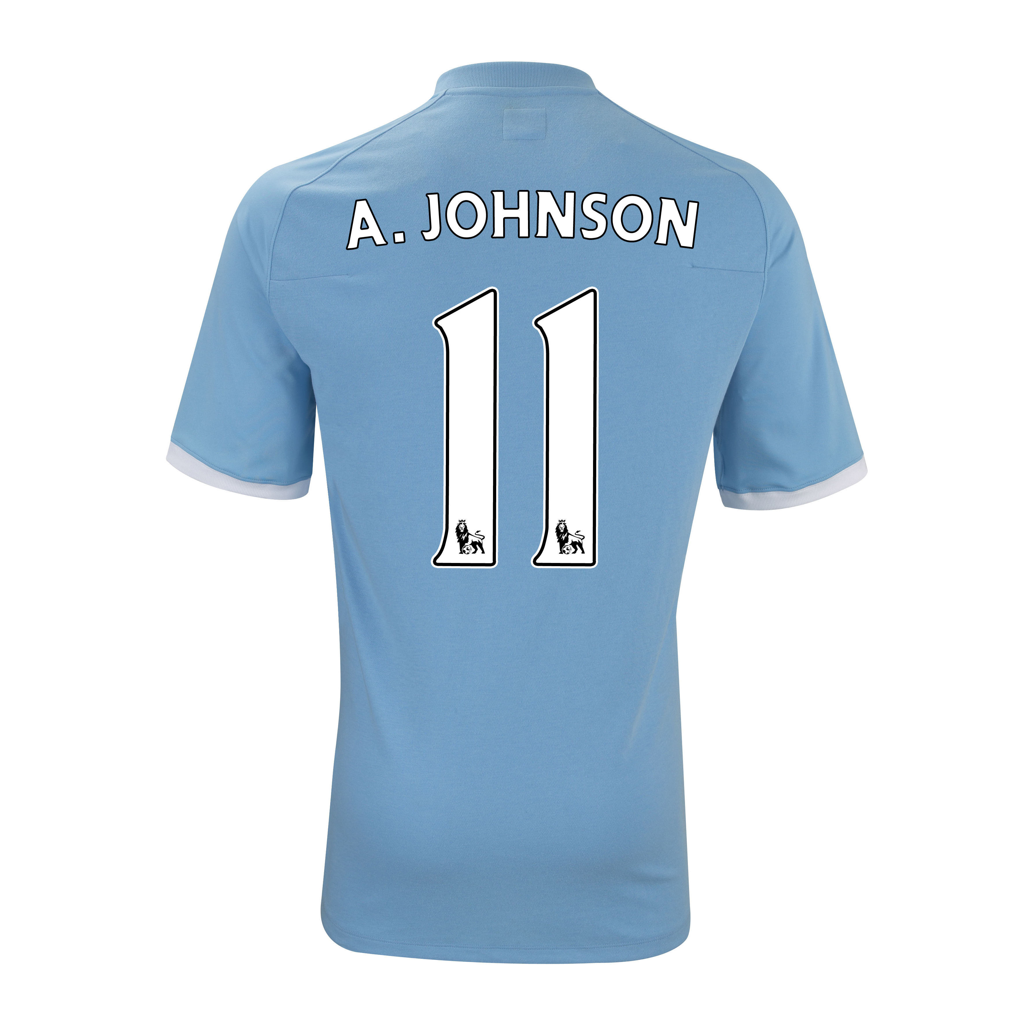 Manchester City Home Shirt 2010/11 with A.Johnson 11 Printing - Kids