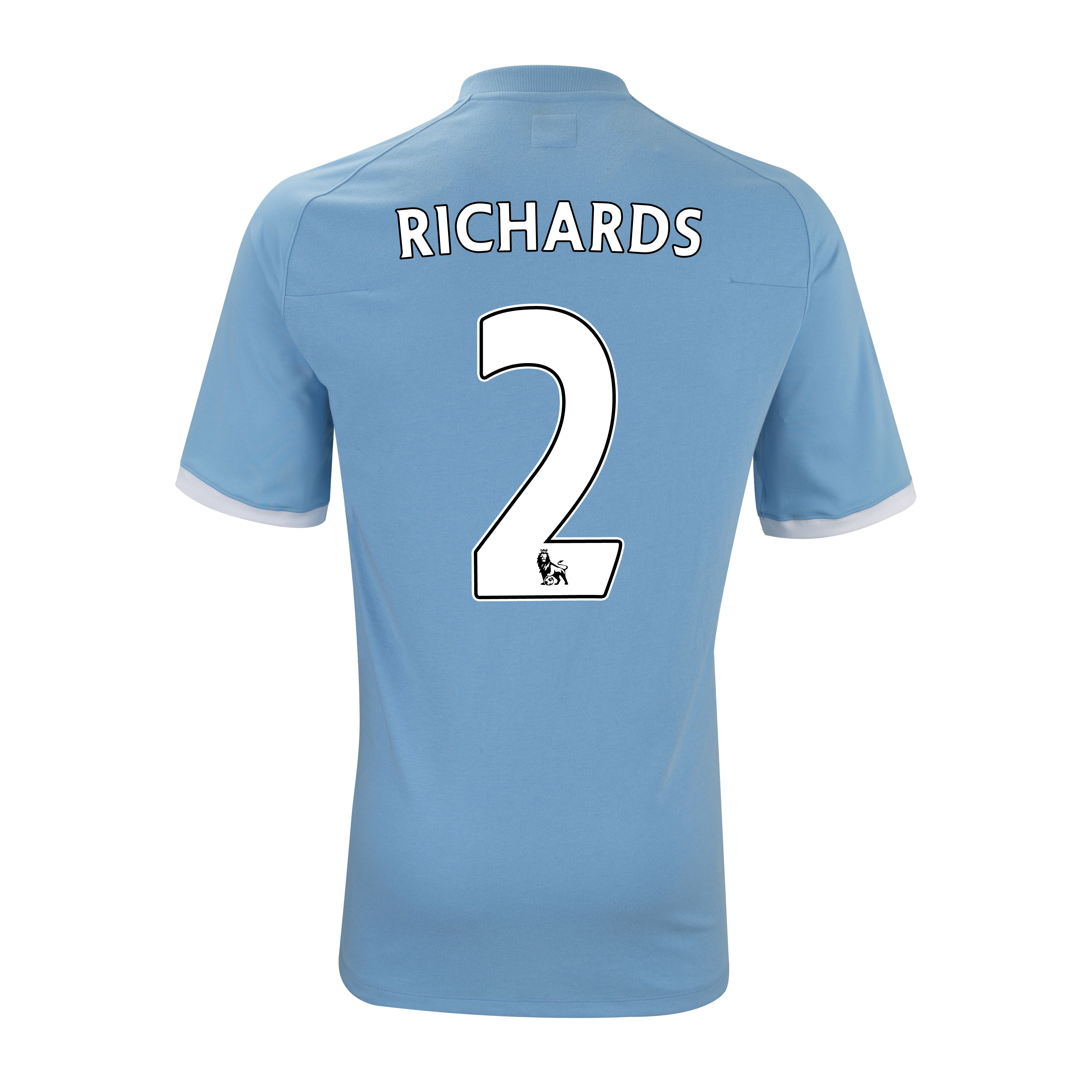 Manchester City Home Shirt 2010/11 with Richards 2 Printing - Kids