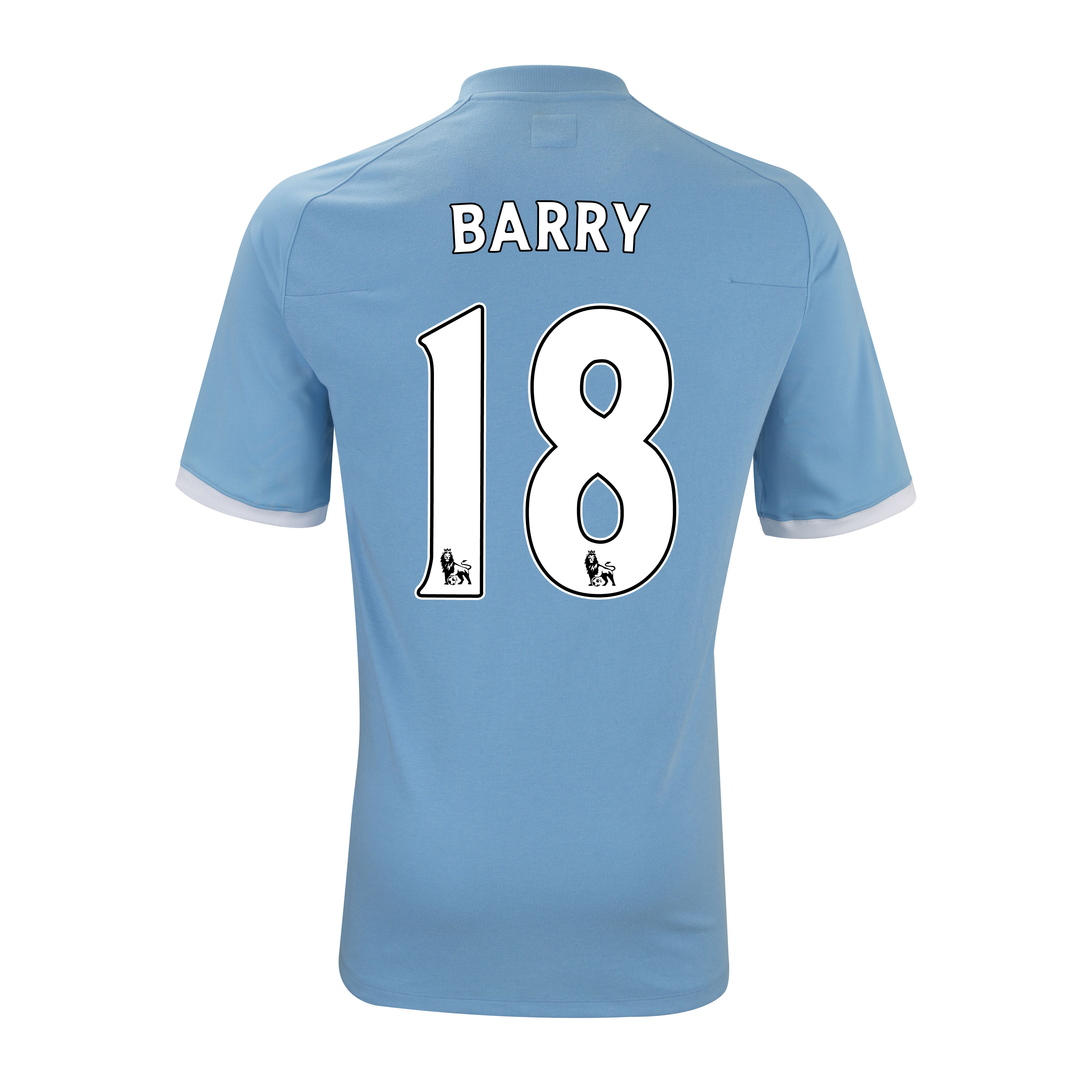 Manchester City Home Shirt 2010/11 with Barry 18 Printing - Kids