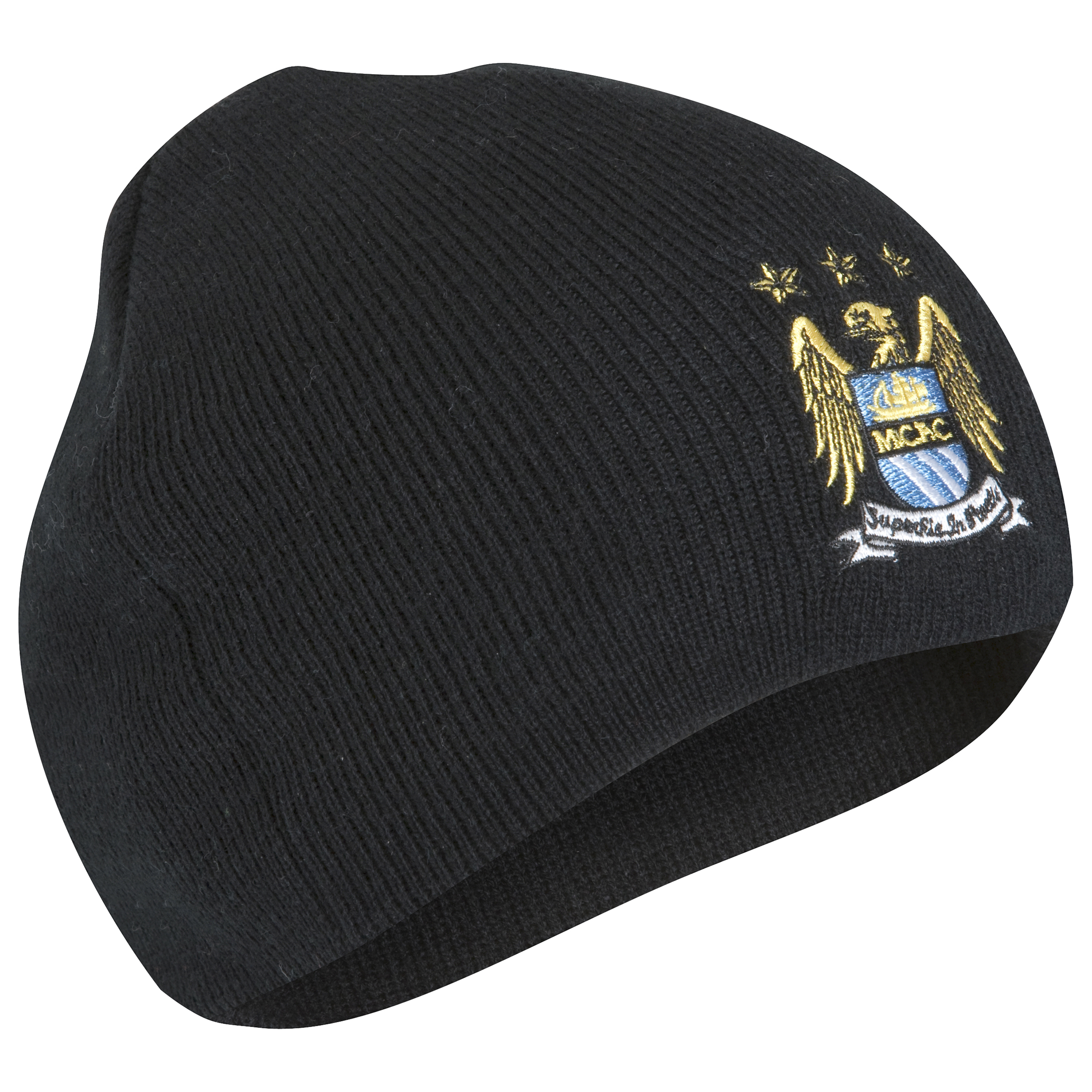 Manchester City Franklin Crest Beanie Junior - Black
