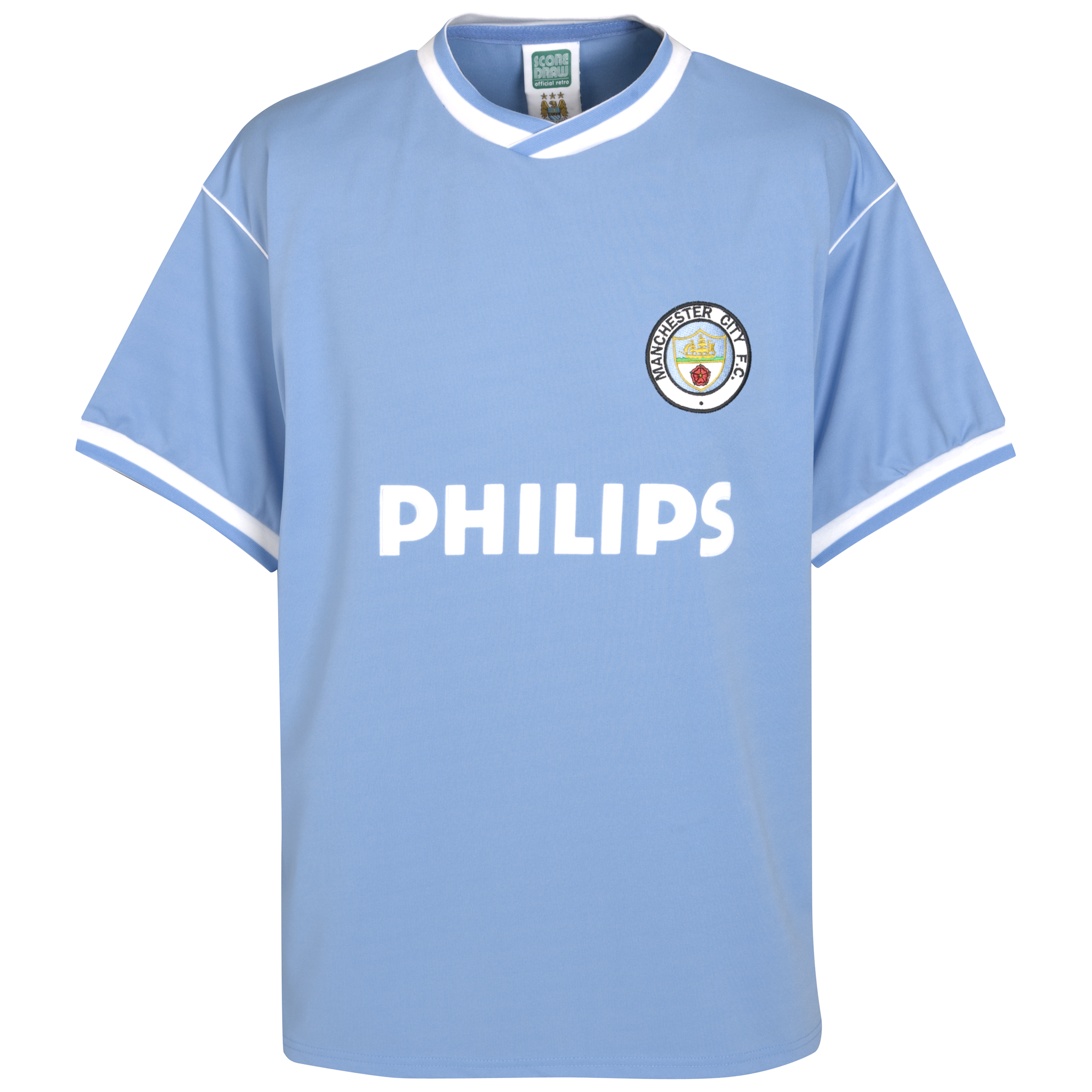Manchester City 1986 S/S Philips Home Shirt Poly