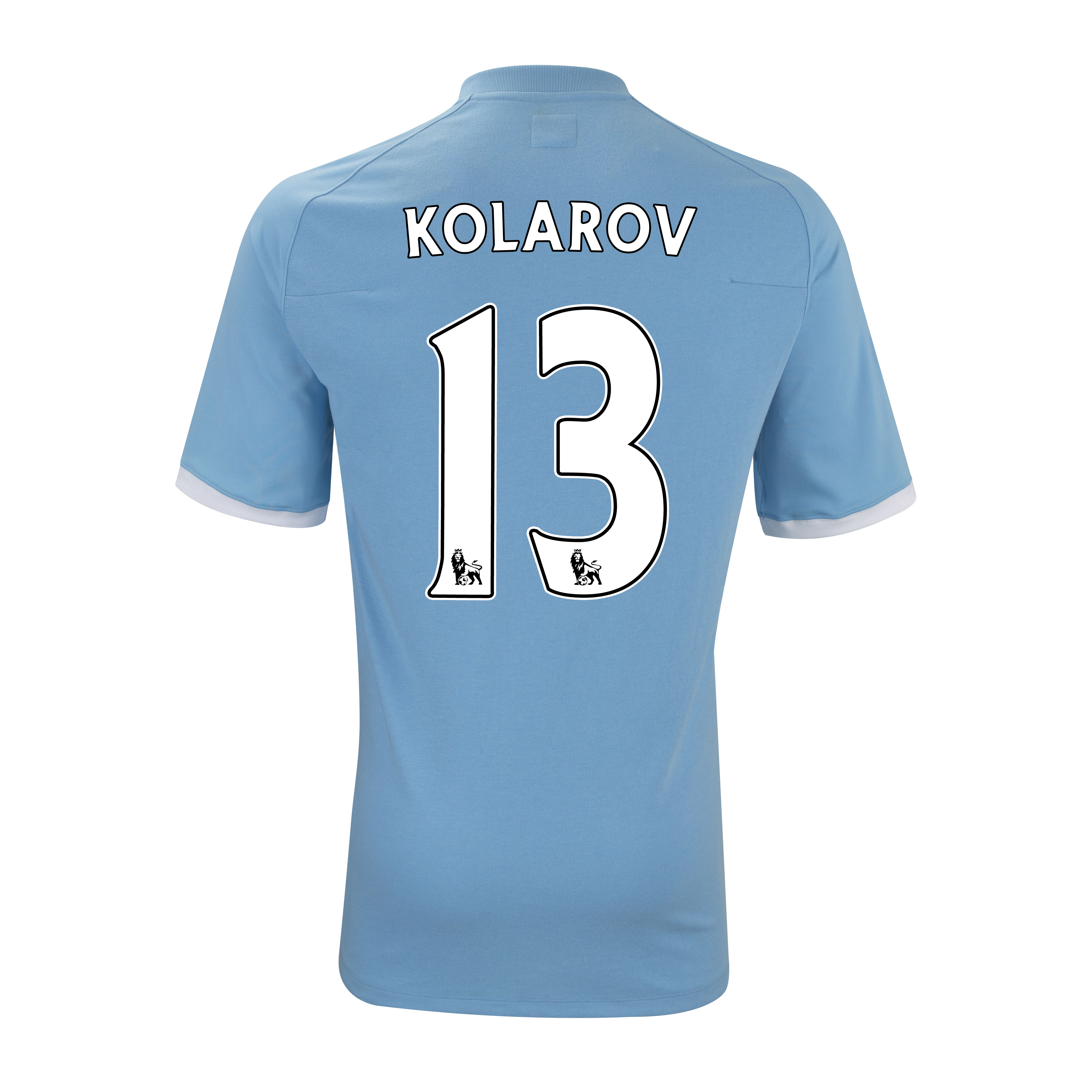 Manchester City Home Shirt 2010/11 with Kolarov 13 Printing - Kids