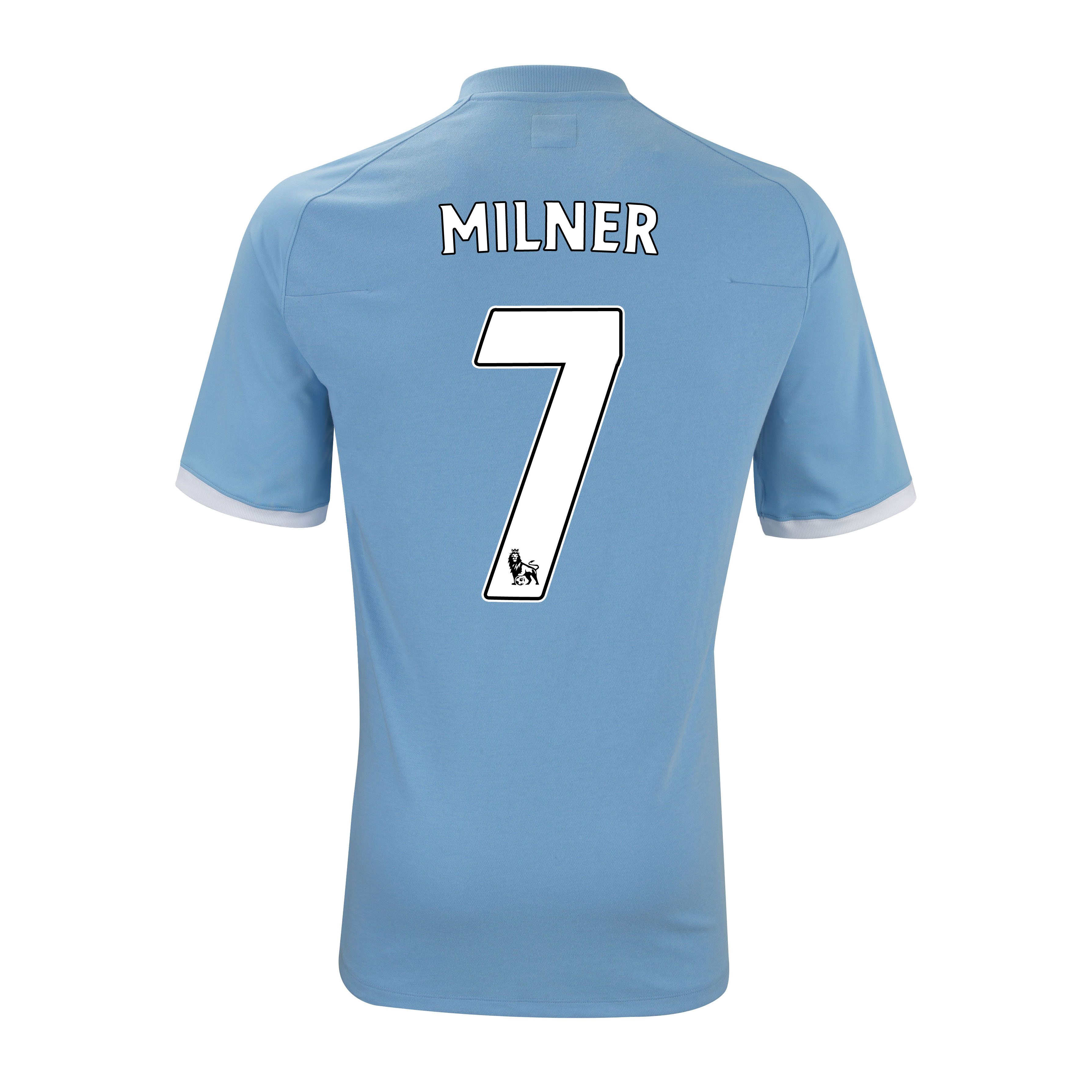 Manchester City Home Shirt 2010/11 with Milner 7 Printing - Kids