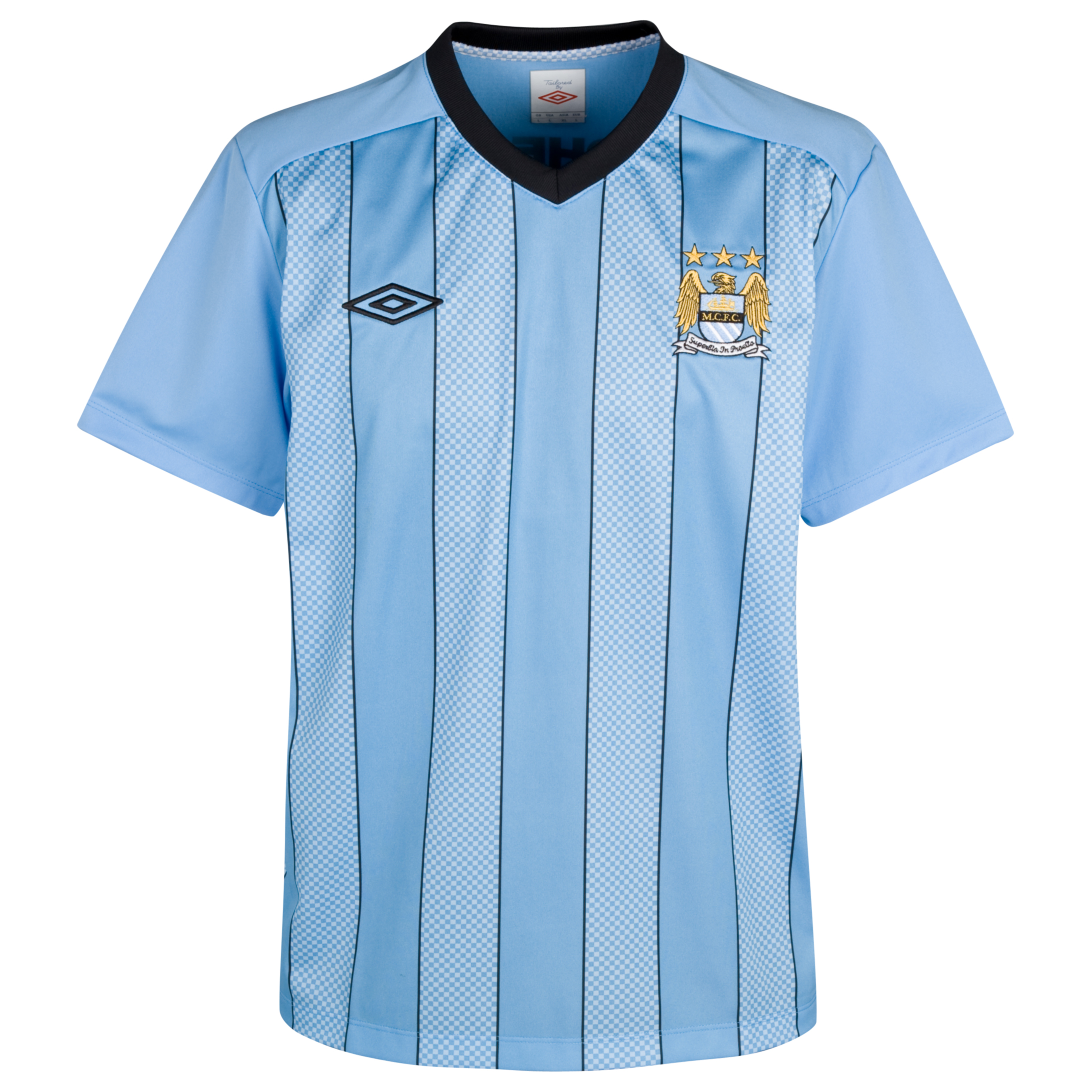 Manchester City Euro Training Short sleeve Jersey - Vista Blue/Black