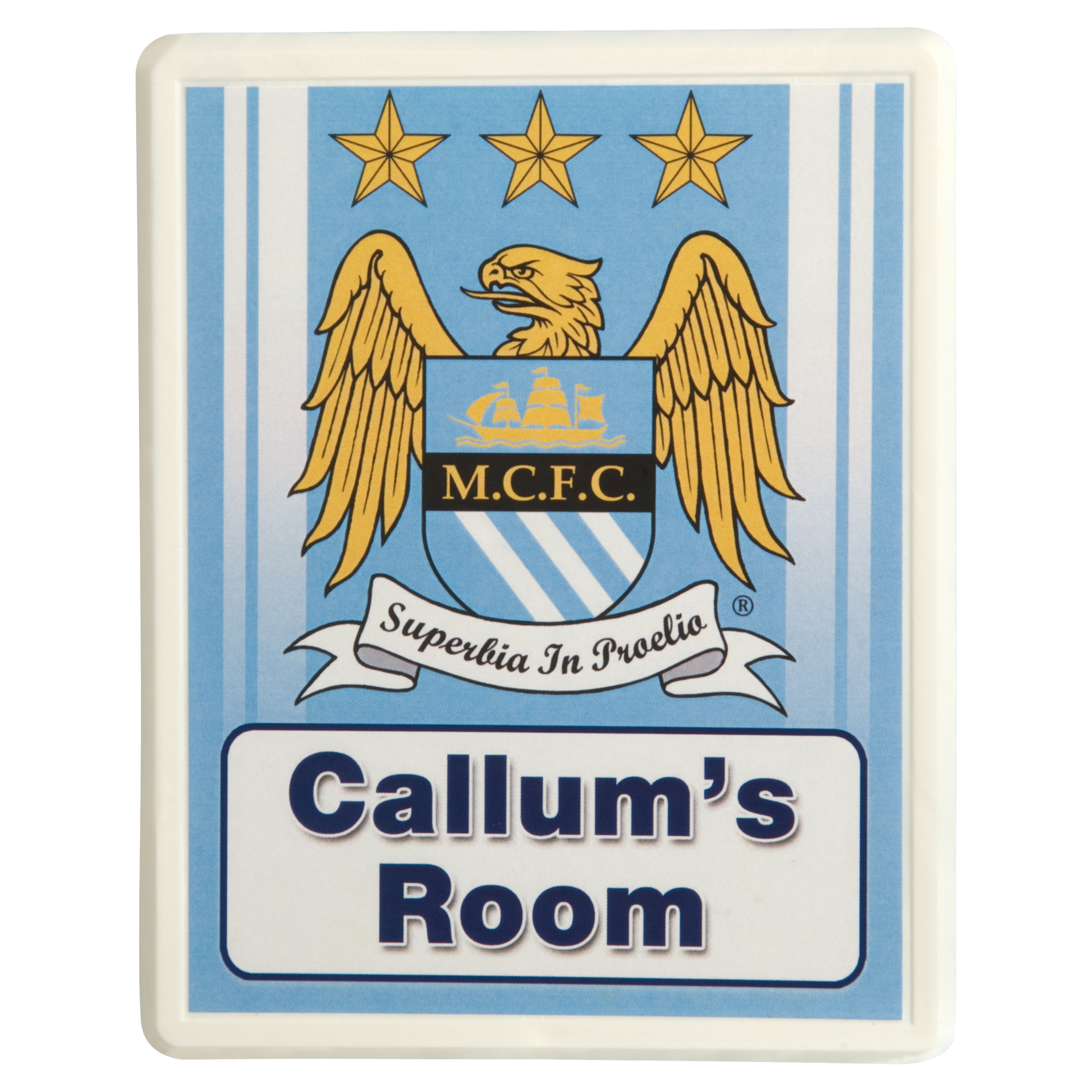 Manchester City Personalised Door Plaques