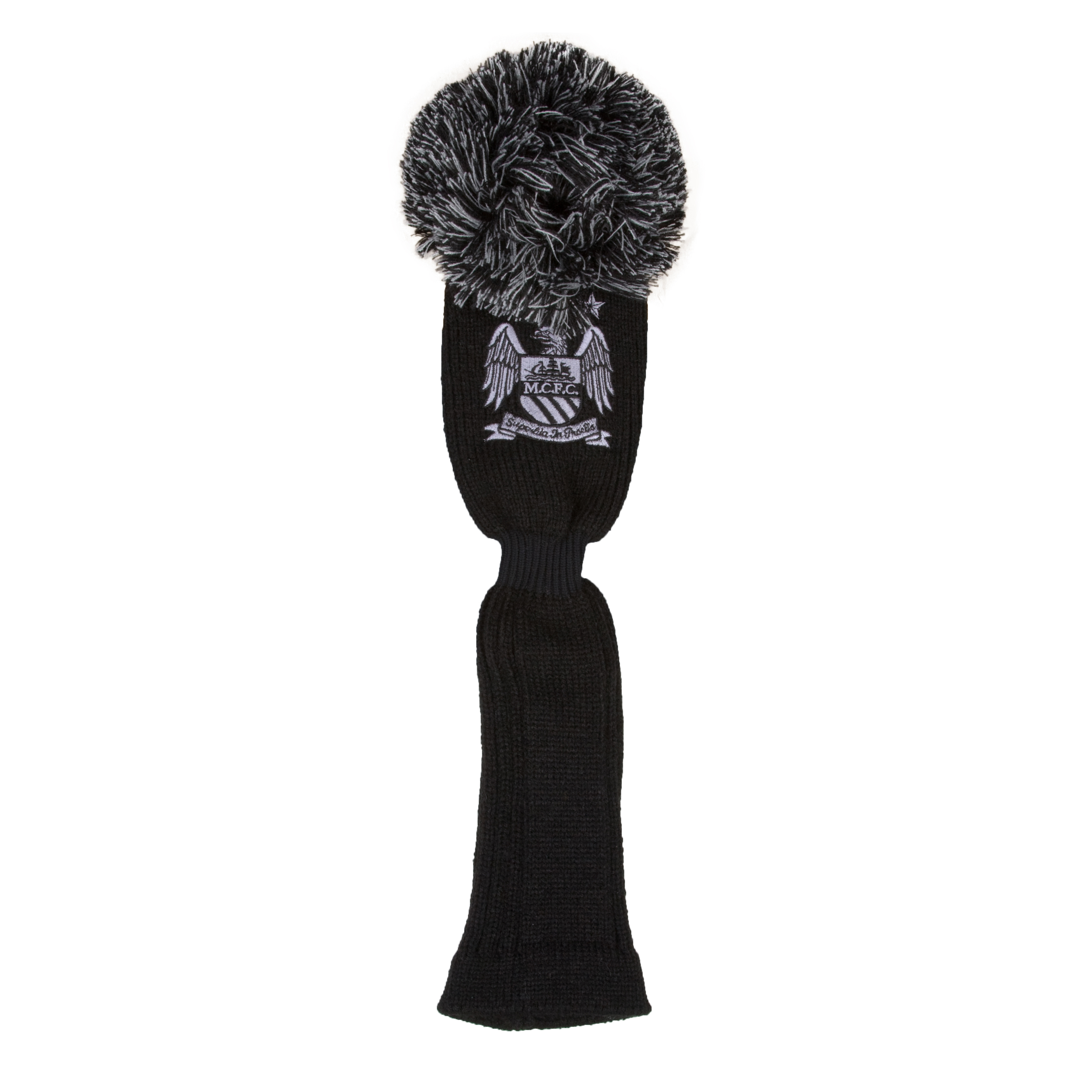 Manchester City Executive Golf Pom-Pom Driver Headcover - Black/Silver