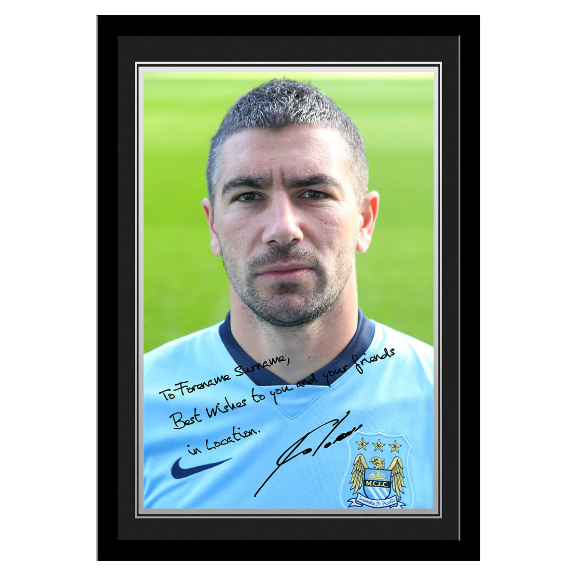 Manchester City Personalised Signature Photo Frame - Kolarov