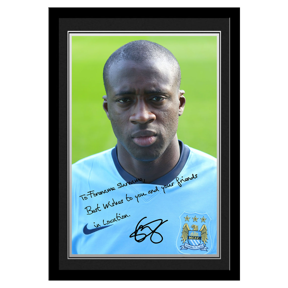 Manchester City Personalised Signature Photo Frame - Yaya Toure