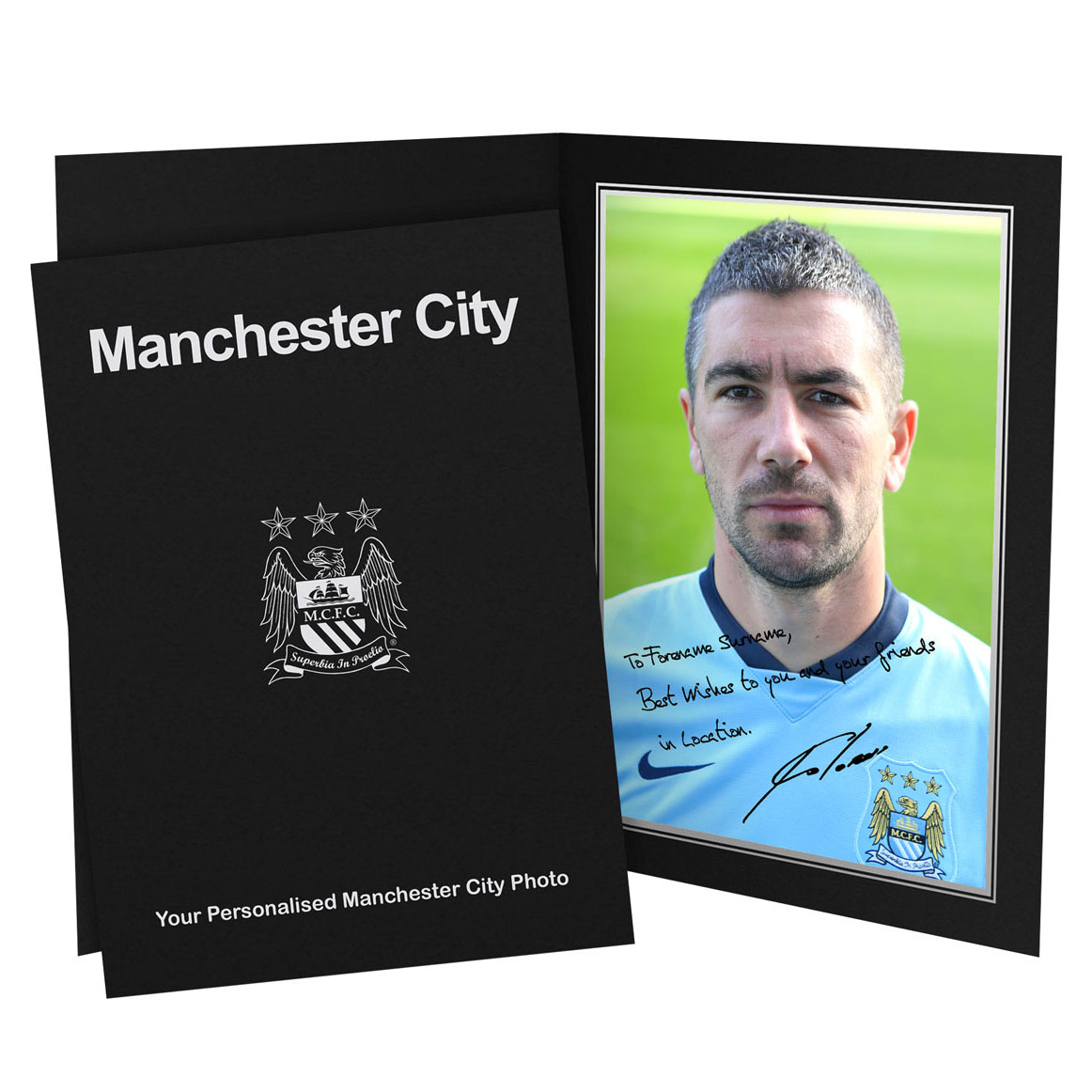 Manchester City Personalised Signature Photo in Presentation Folder - Kolarov