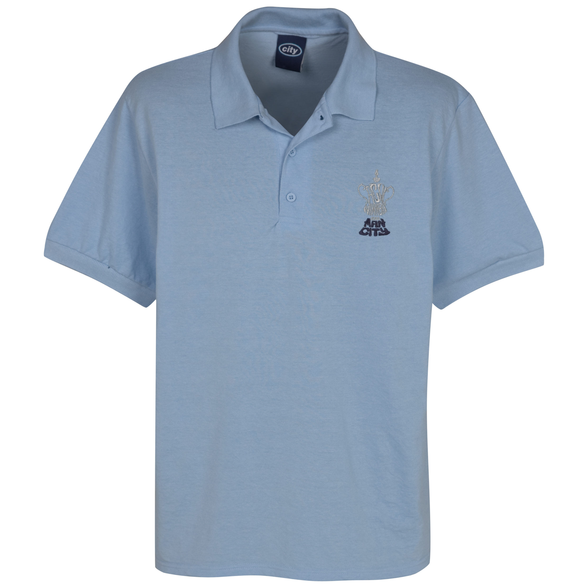 Manchester City The FA Cup Winners Polo - Sky
