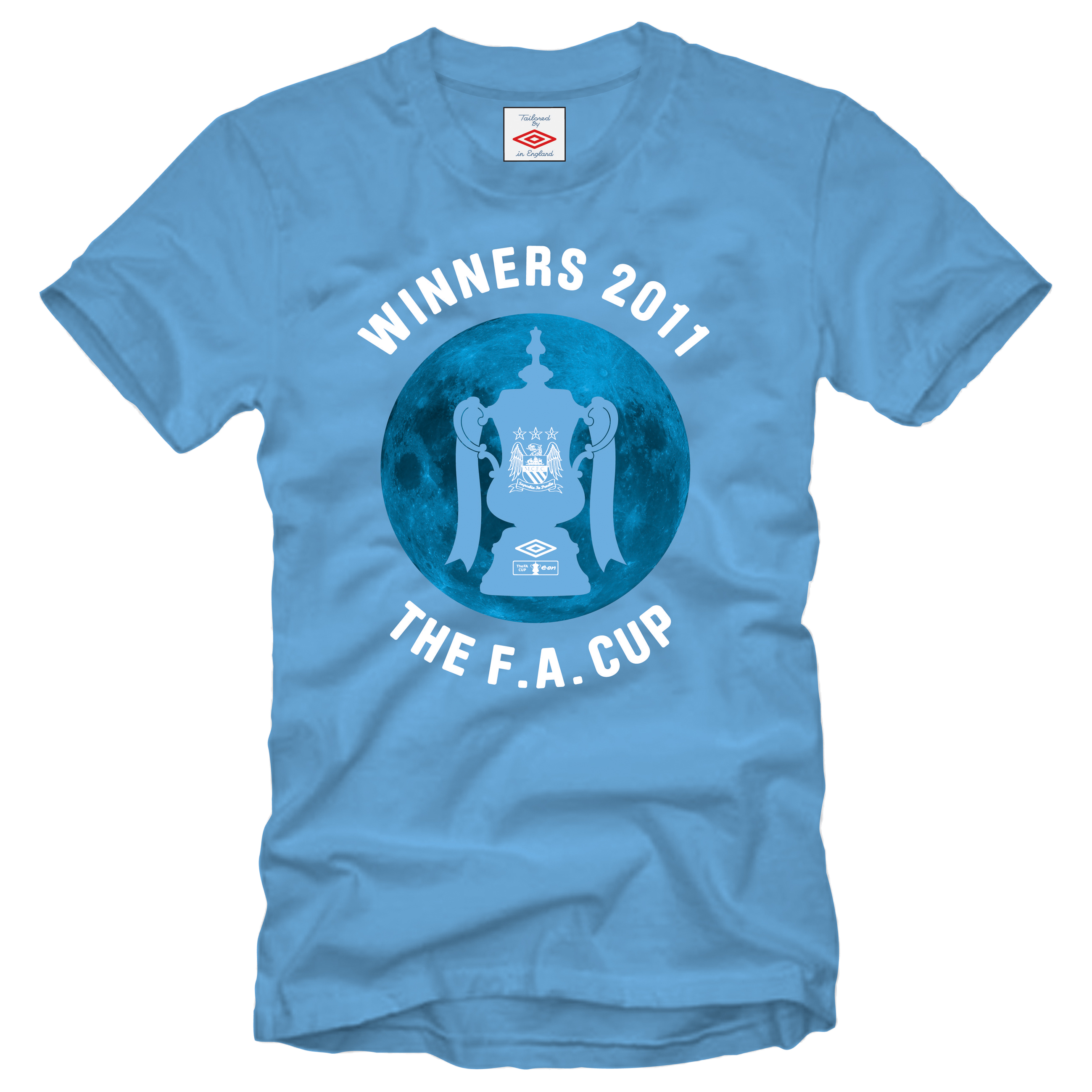 Manchester City The FA Cup Winners T-Shirt - Sky