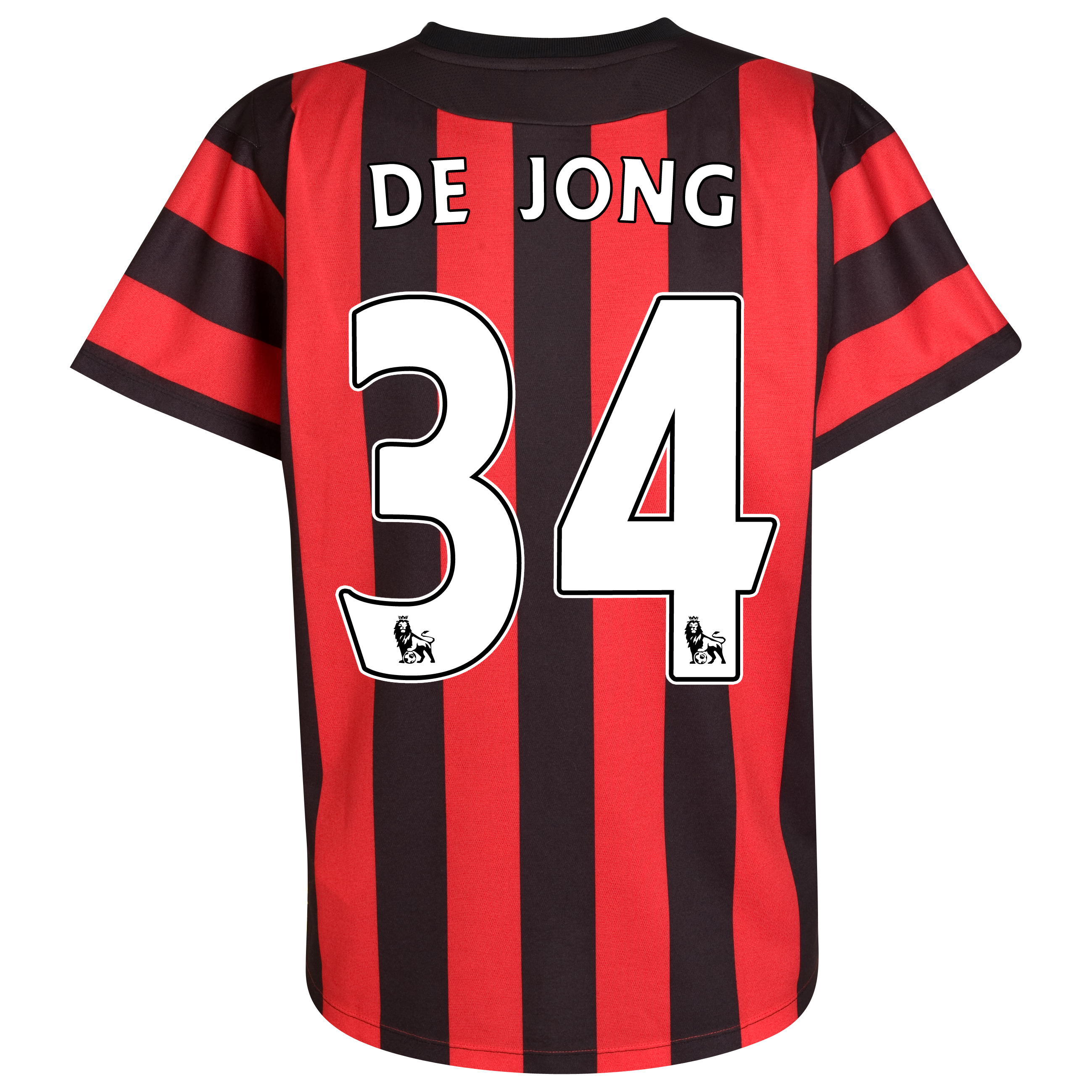 Manchester City Away Shirt  2011/12 with De Jong 34 printing