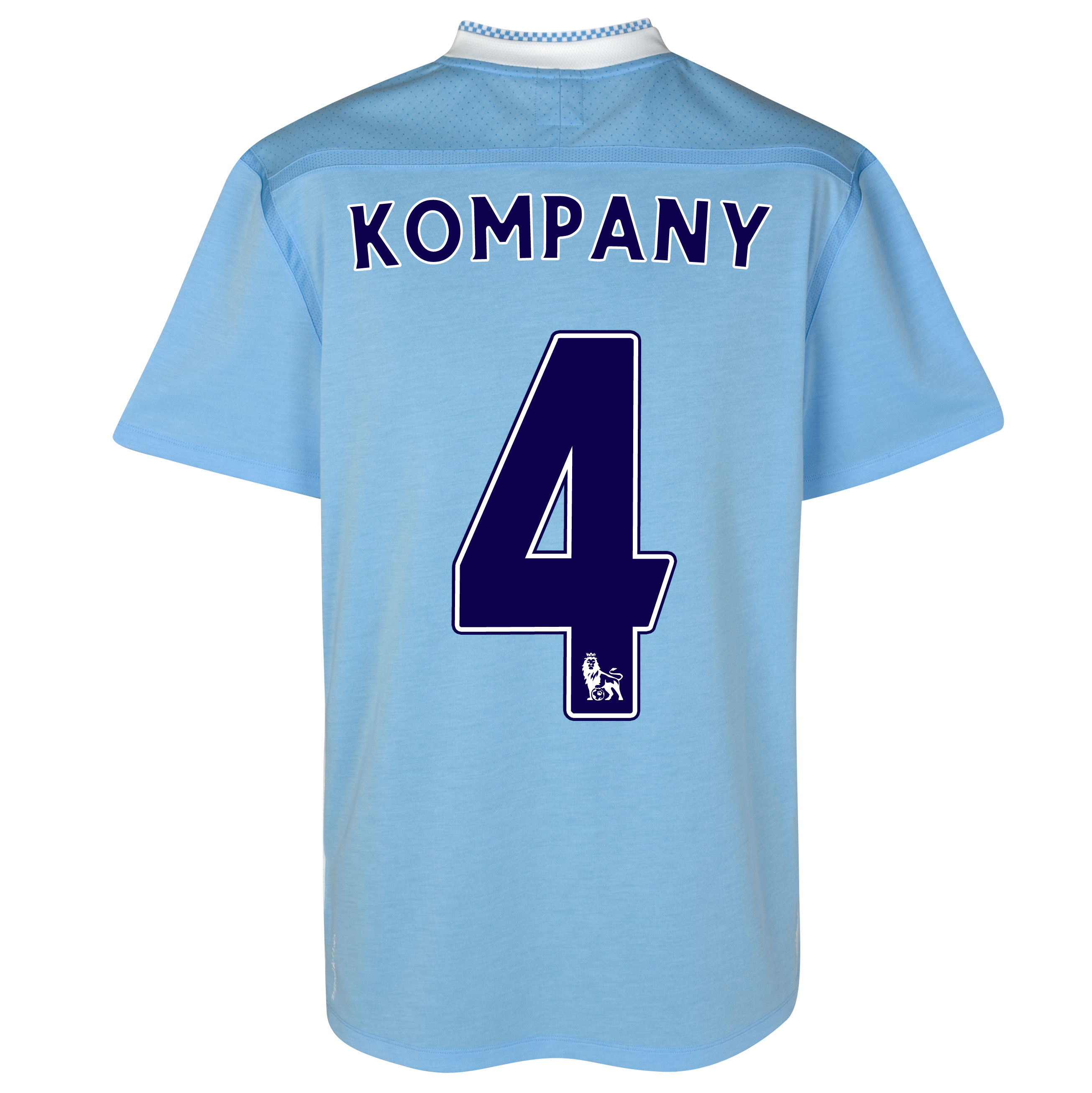 Manchester City Home Shirt 2011/12 with Kompany 4 printing