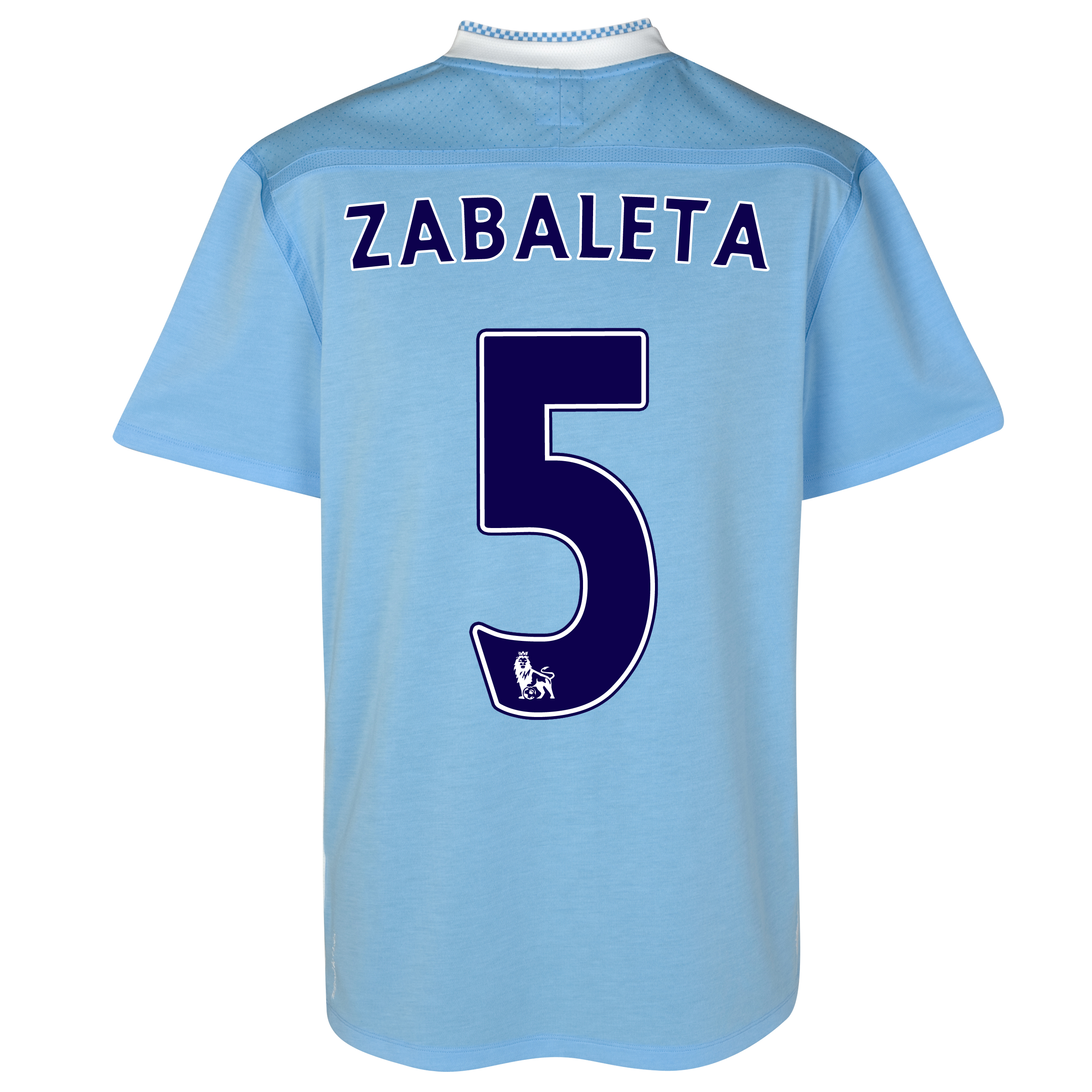 Manchester City Home Shirt 2011/12 with Zabaleta 5 printing
