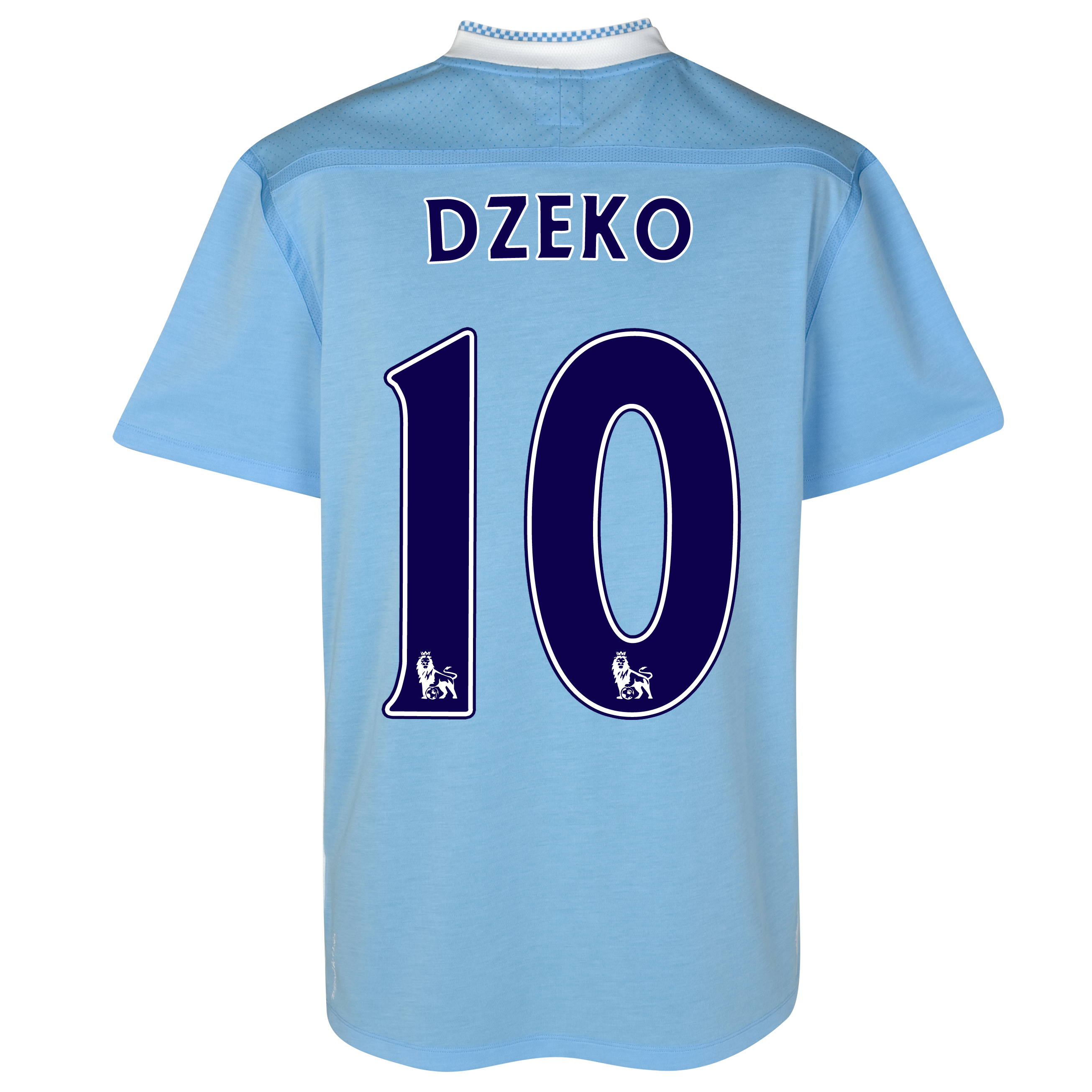 Manchester City Home Shirt 2011/12 with Dzeko 10 printing