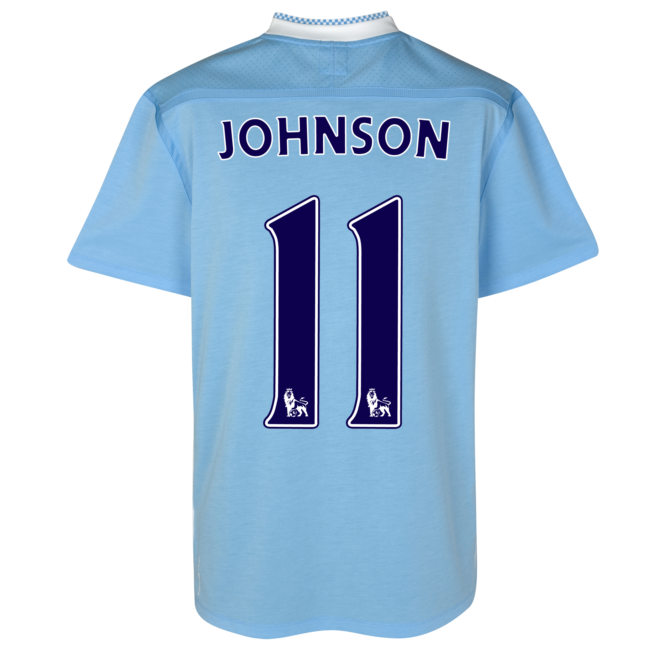 Manchester City Home Shirt 2011/12 with Johnson 11 printing