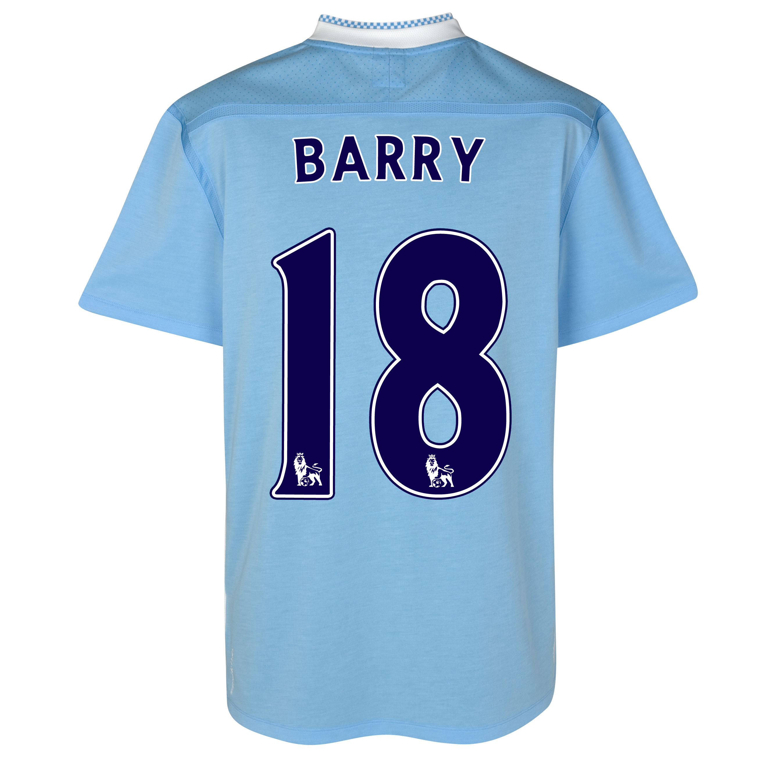 Manchester City Home Shirt 2011/12 with Barry 18 printing