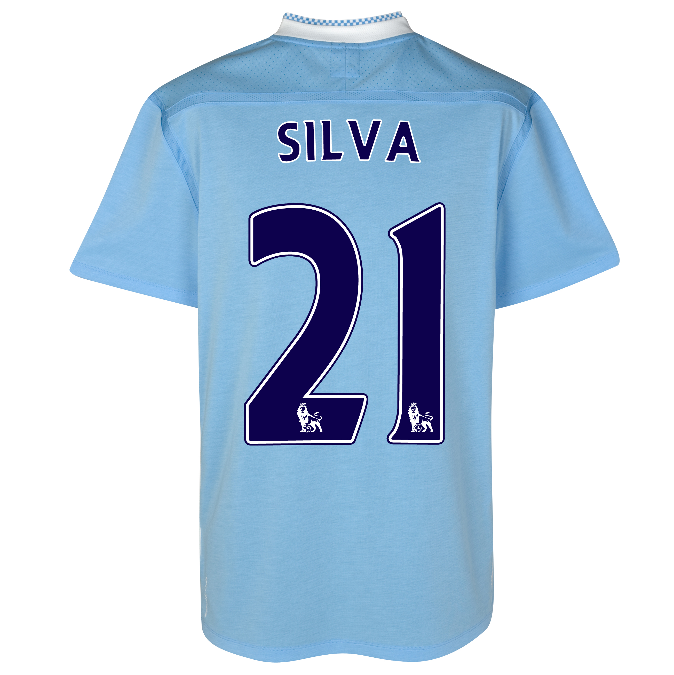 Manchester City Home Shirt 2011/12 with Silva 21 printing