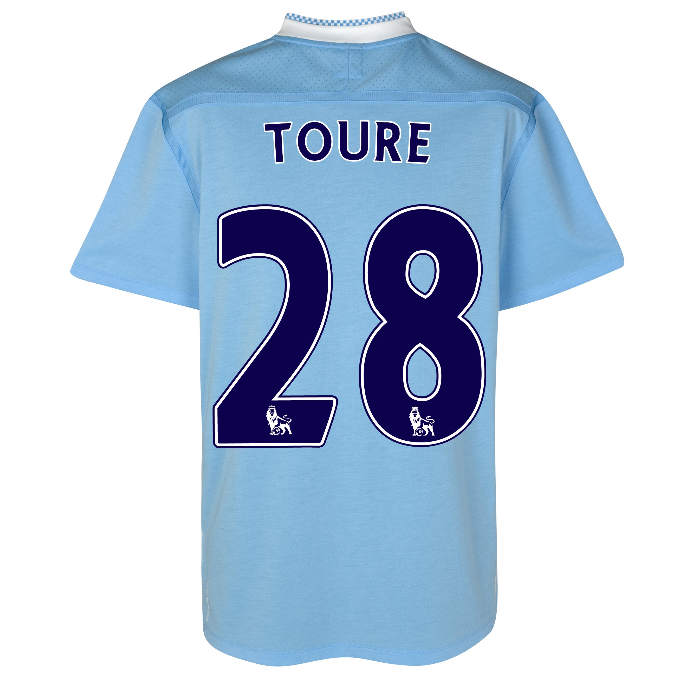Manchester City Home Shirt 2011/12 with Toure 28 printing