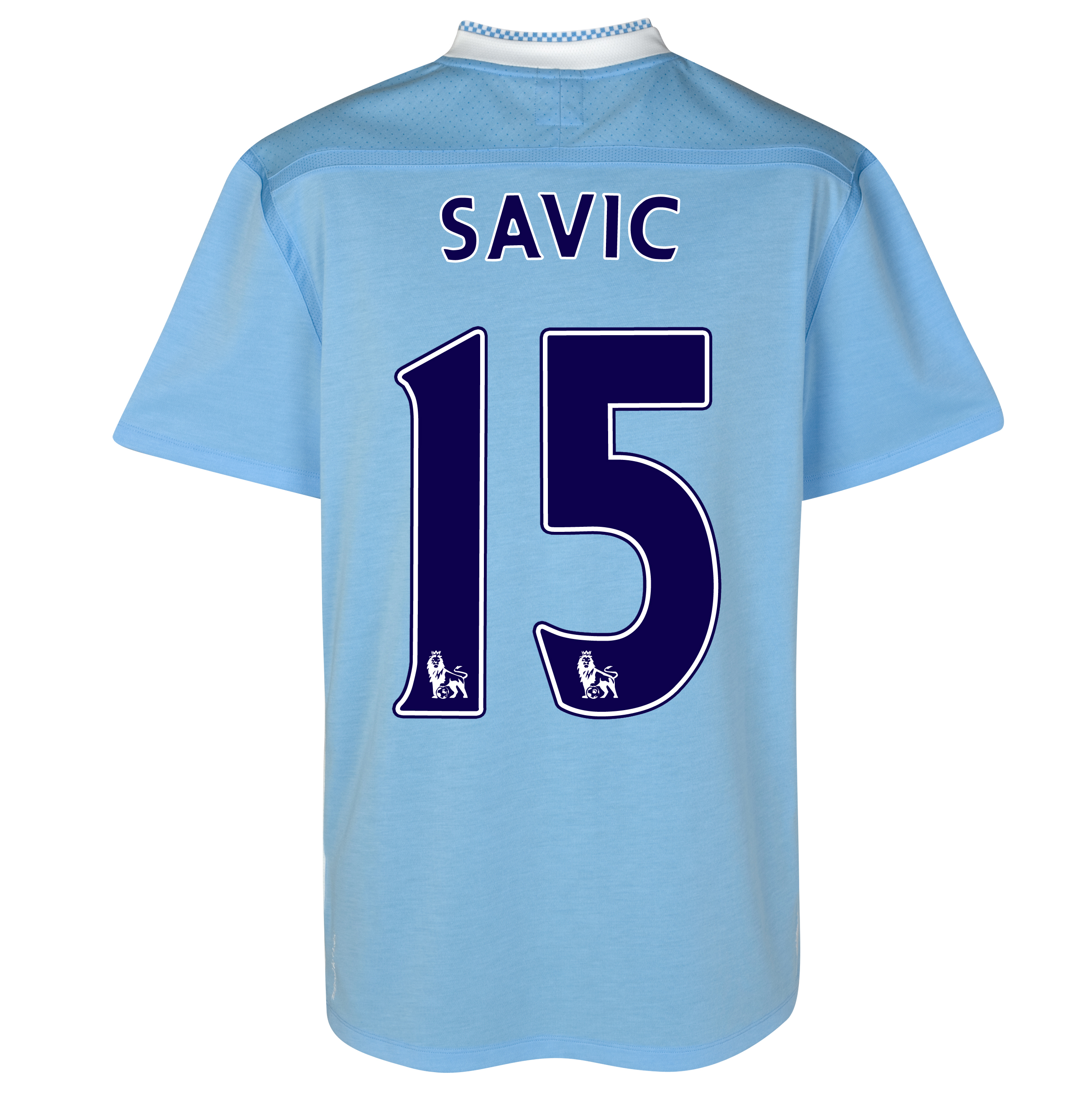 Manchester City Home Shirt 2011/12 with Savic 15 printing