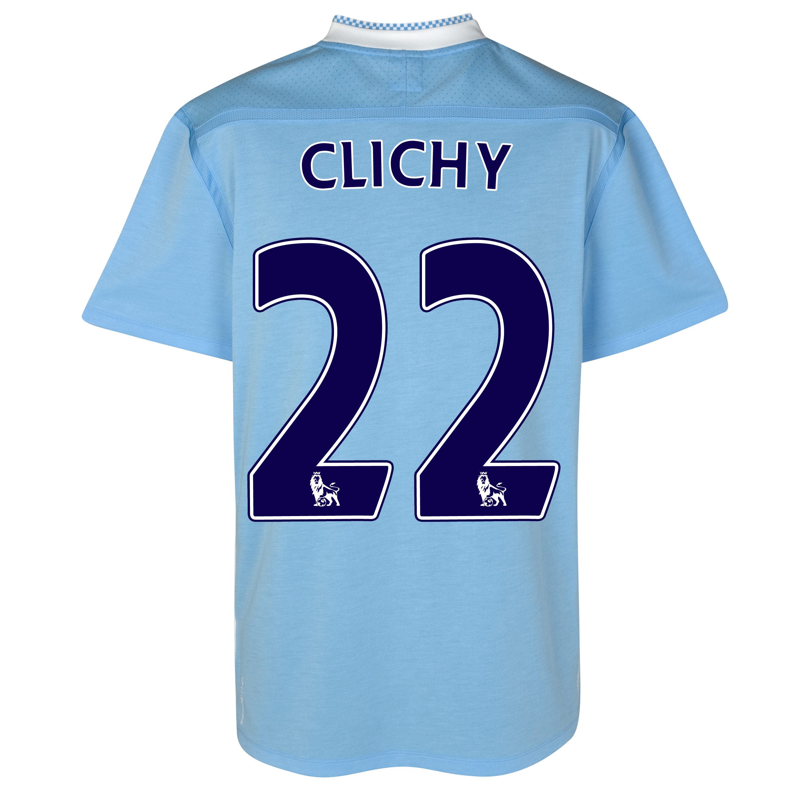 Manchester City Home Shirt 2011/12 with Clichy 22 printing