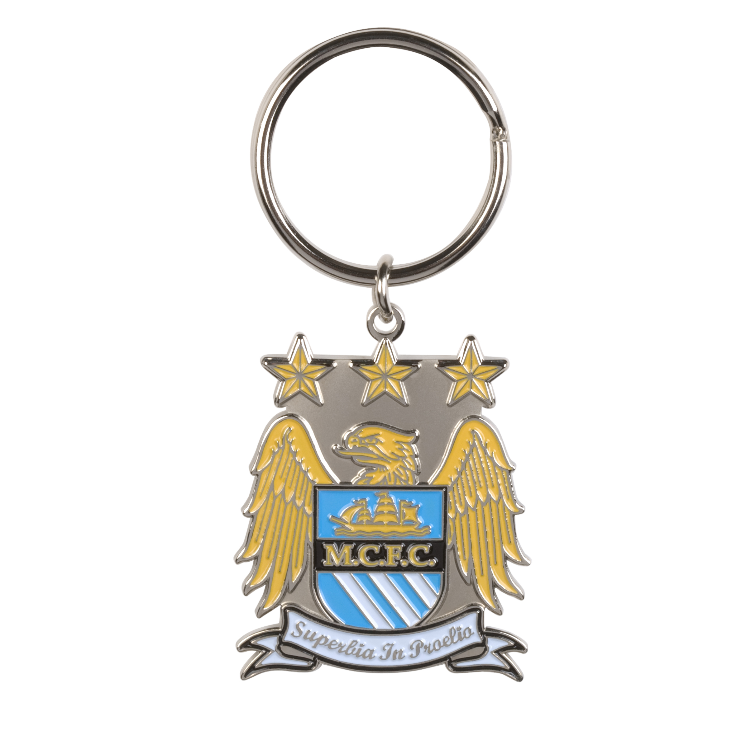 Manchester City Colour Crest Keyring