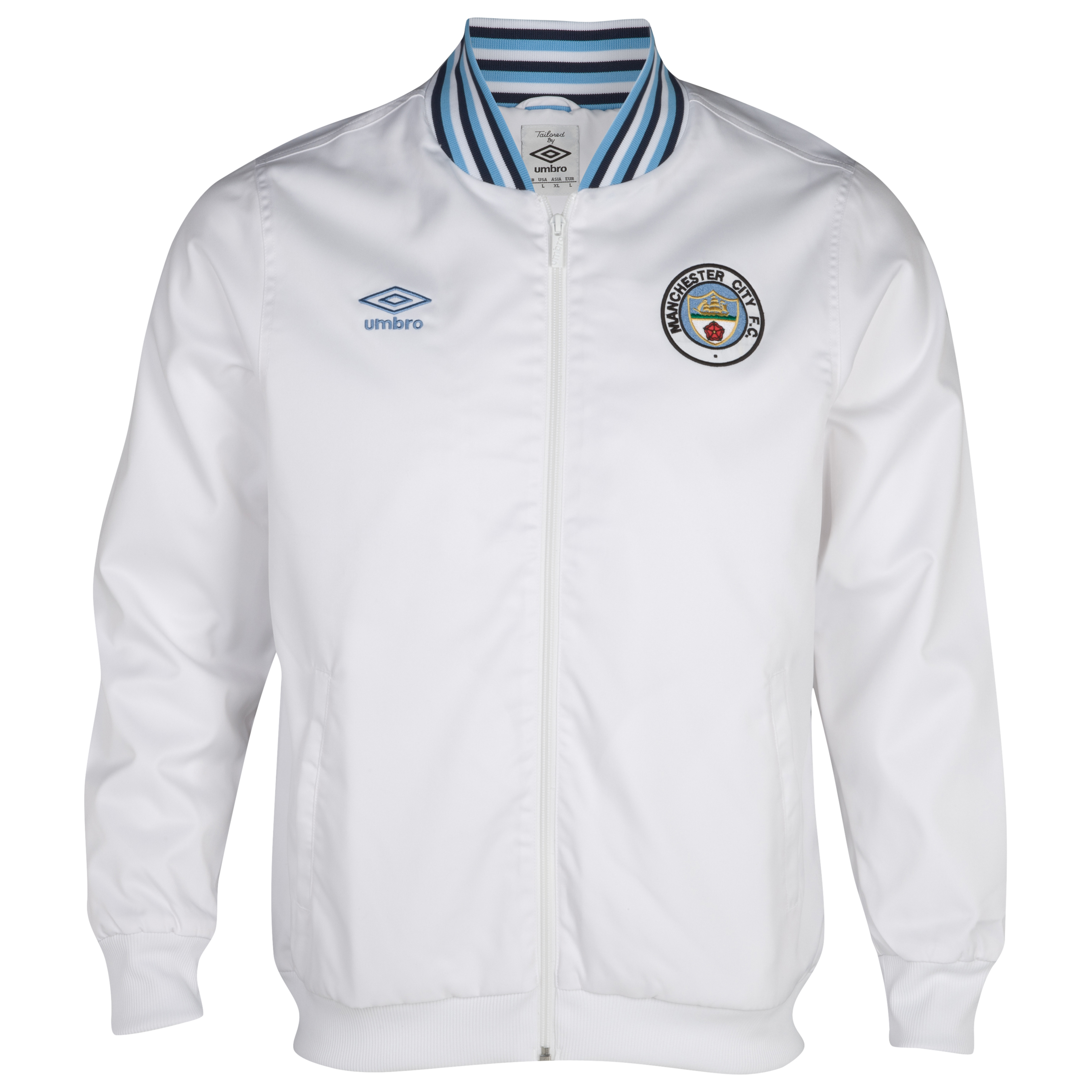 Manchester City 1350 Classics Ramsey Jacket  - White / Dark Navy / Vista Blue