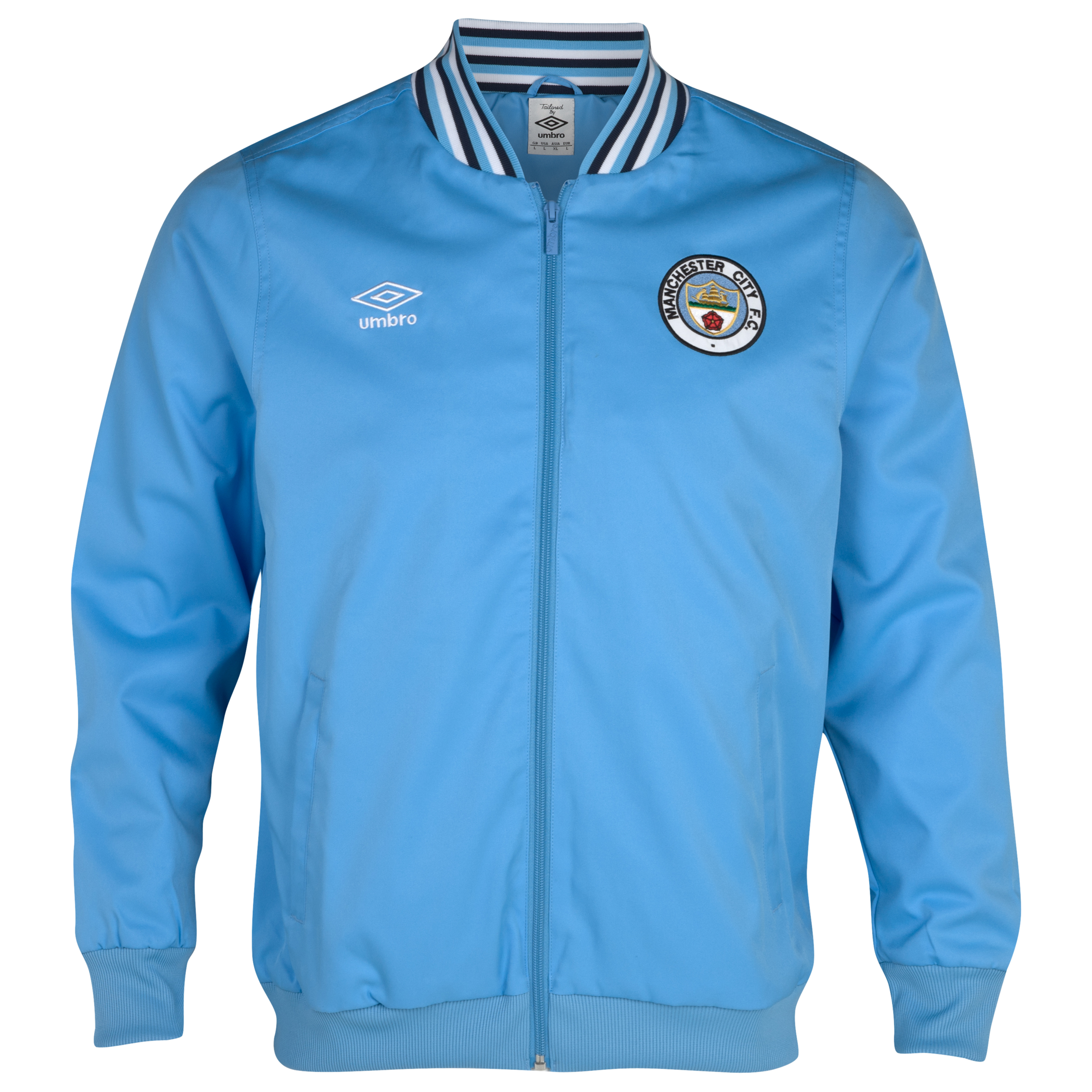 Manchester City 1350 Classics Ramsey Jacket  - Vista Blue / Dark Navy / White