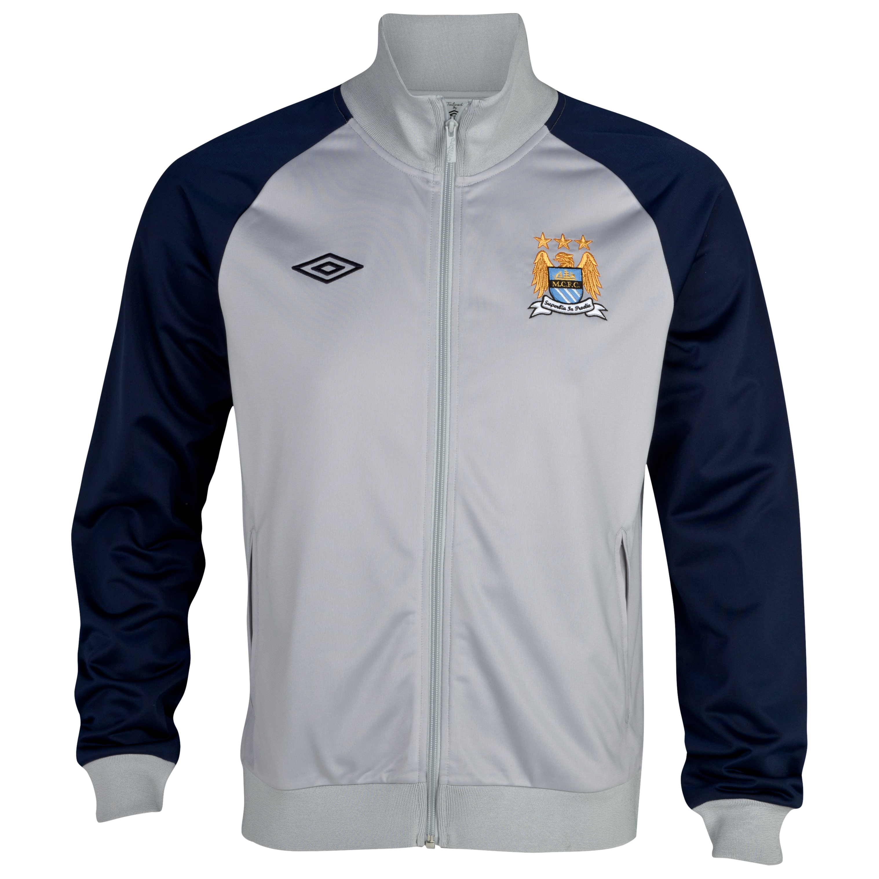 Manchester City WTC Track Jacket - Titanium / Dark Navy