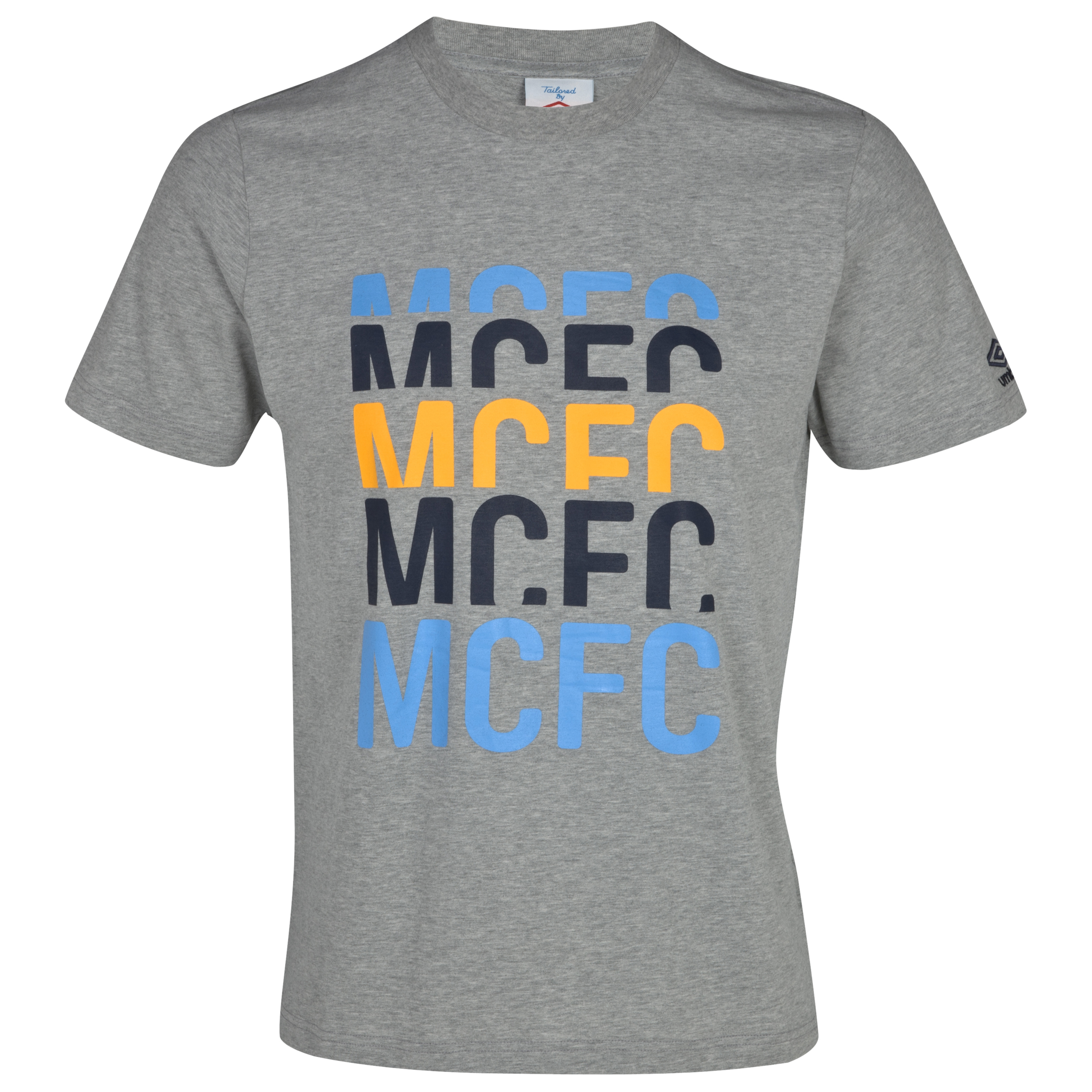Manchester City WTC Graphic T-Shirt - Grey Marl