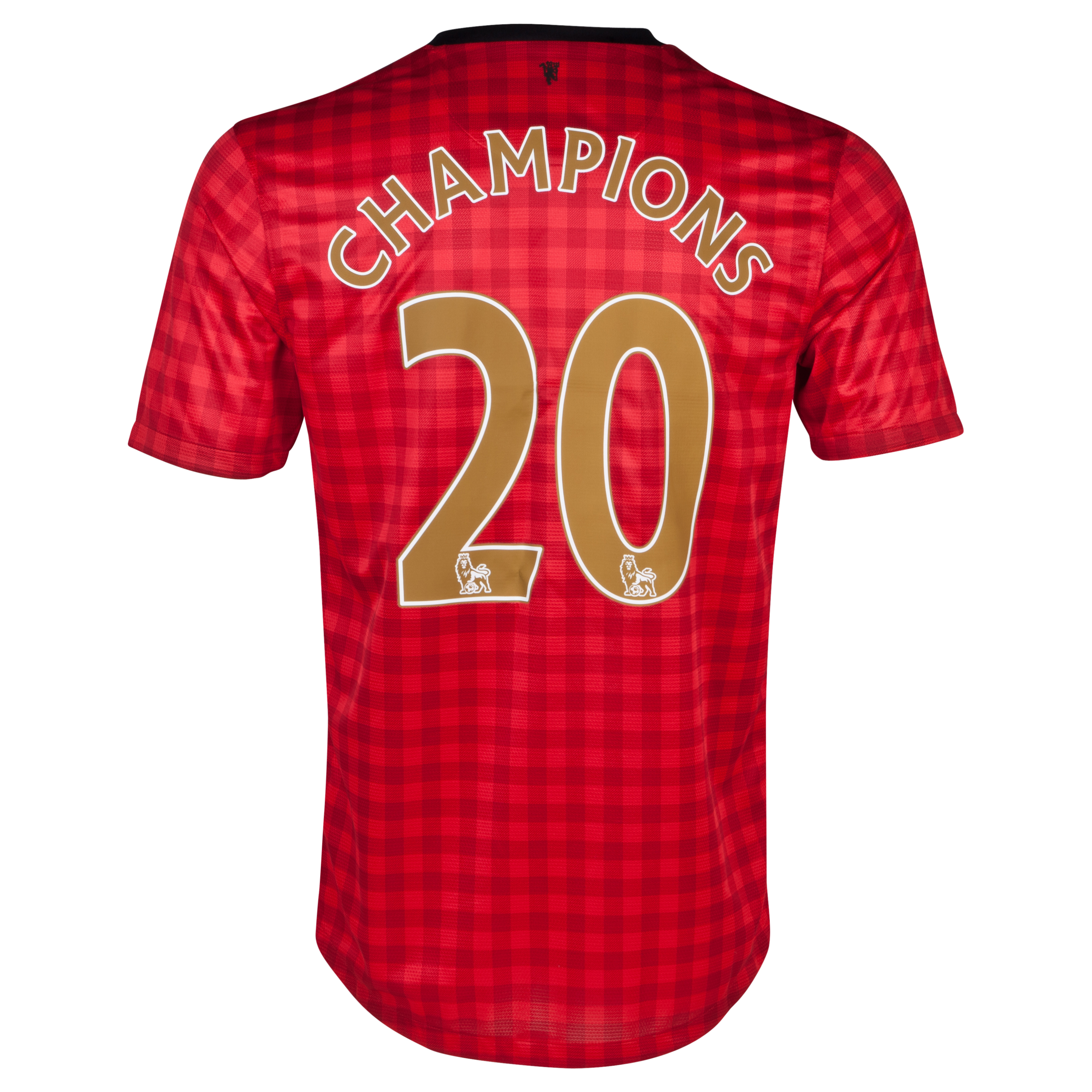 Manchester United Home Shirt 2012/13 with Champions 20 printing