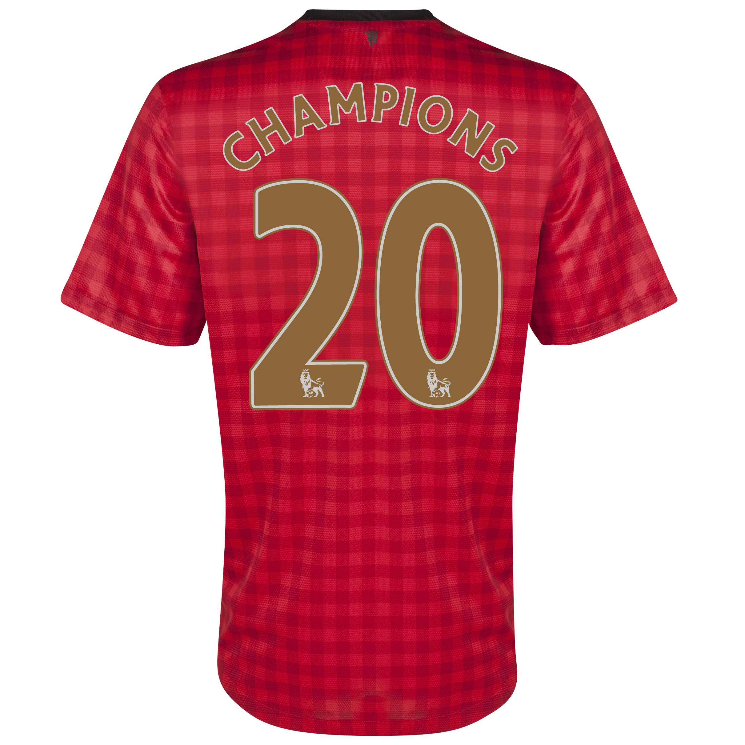 Manchester United Home Shirt 2012/13  - Youths with Champions 20 printing