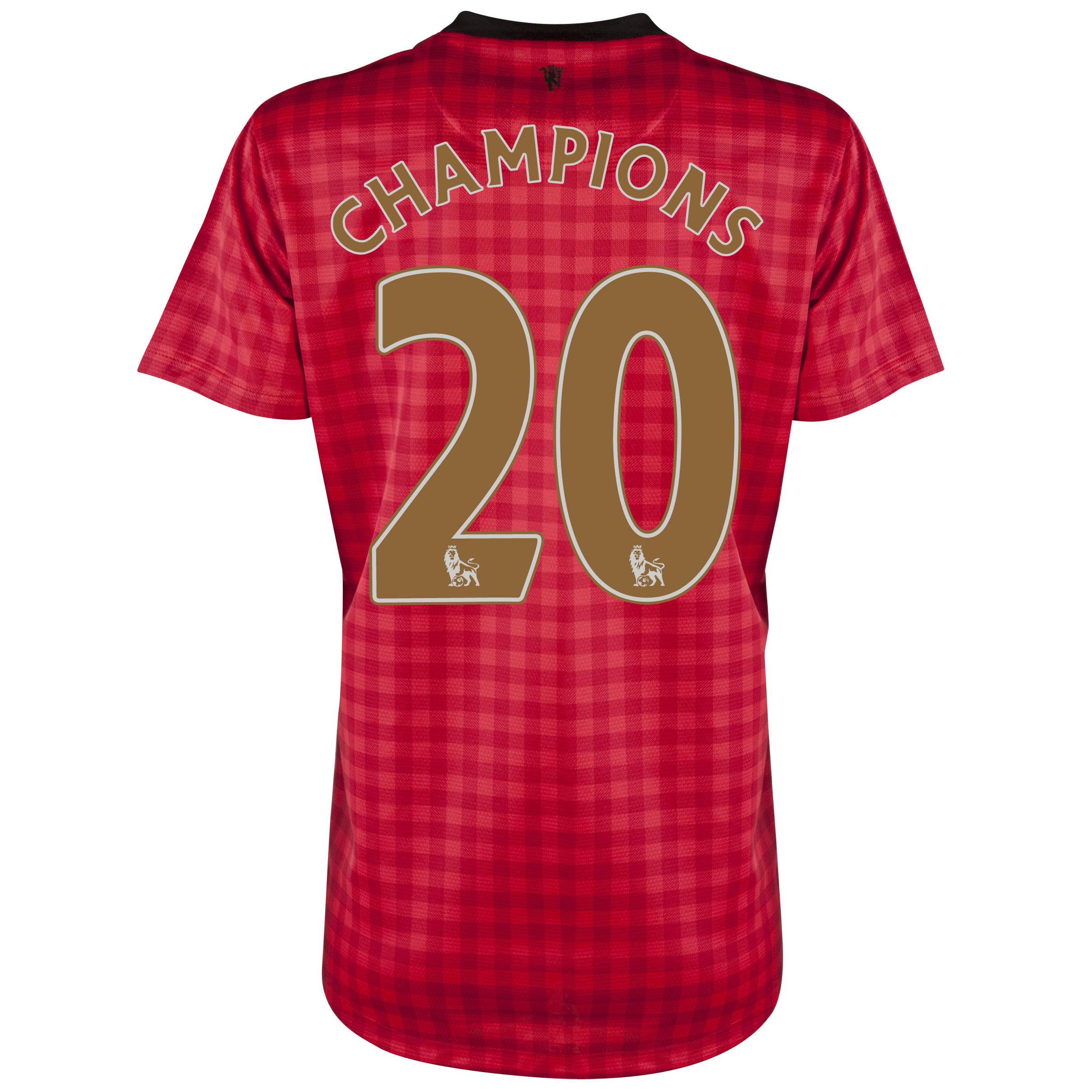 Manchester United Home Shirt 2012/13 - Womens with Champions 20 printing