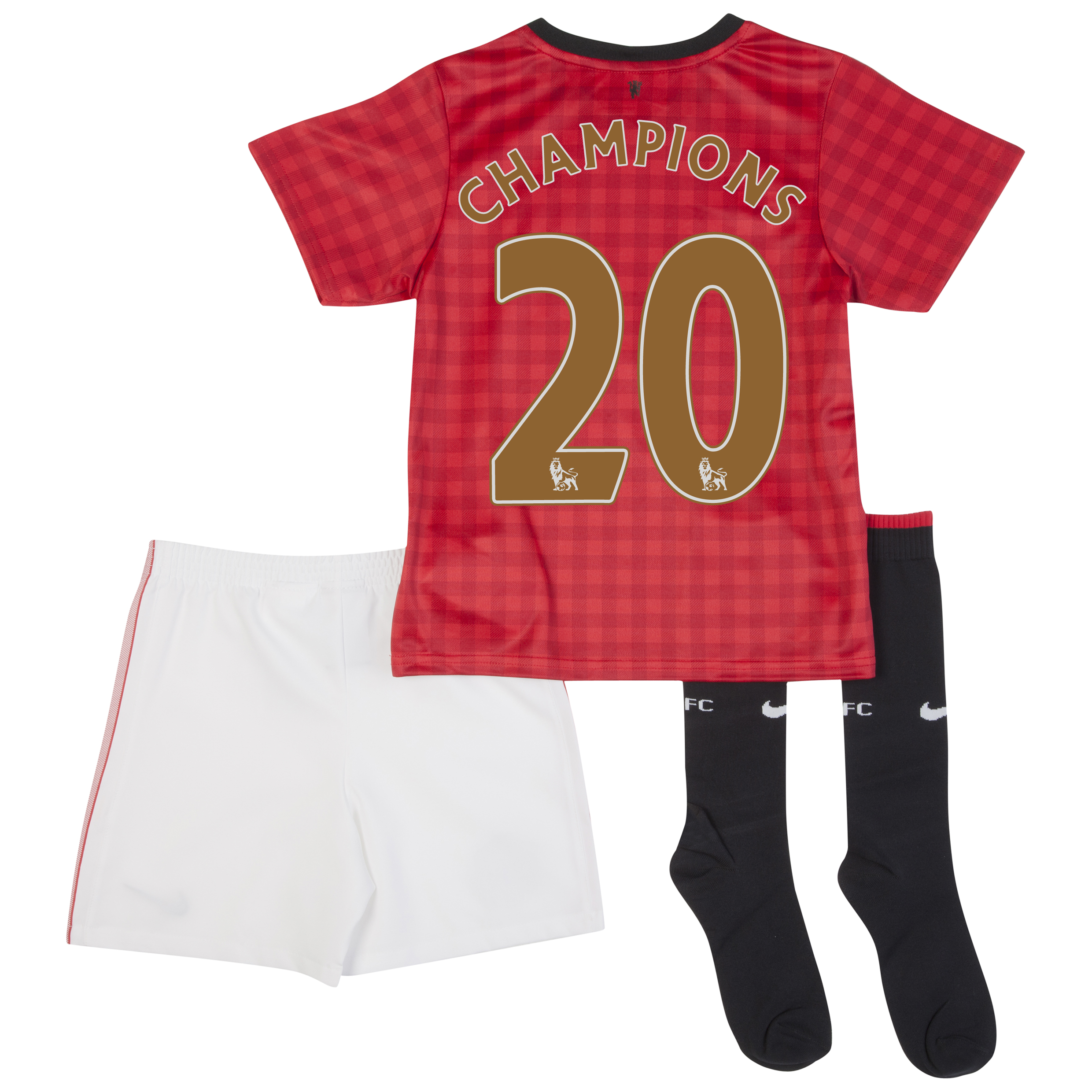 Manchester United Home Kit 2012/13 -  Little Boys with Champions 20 printing