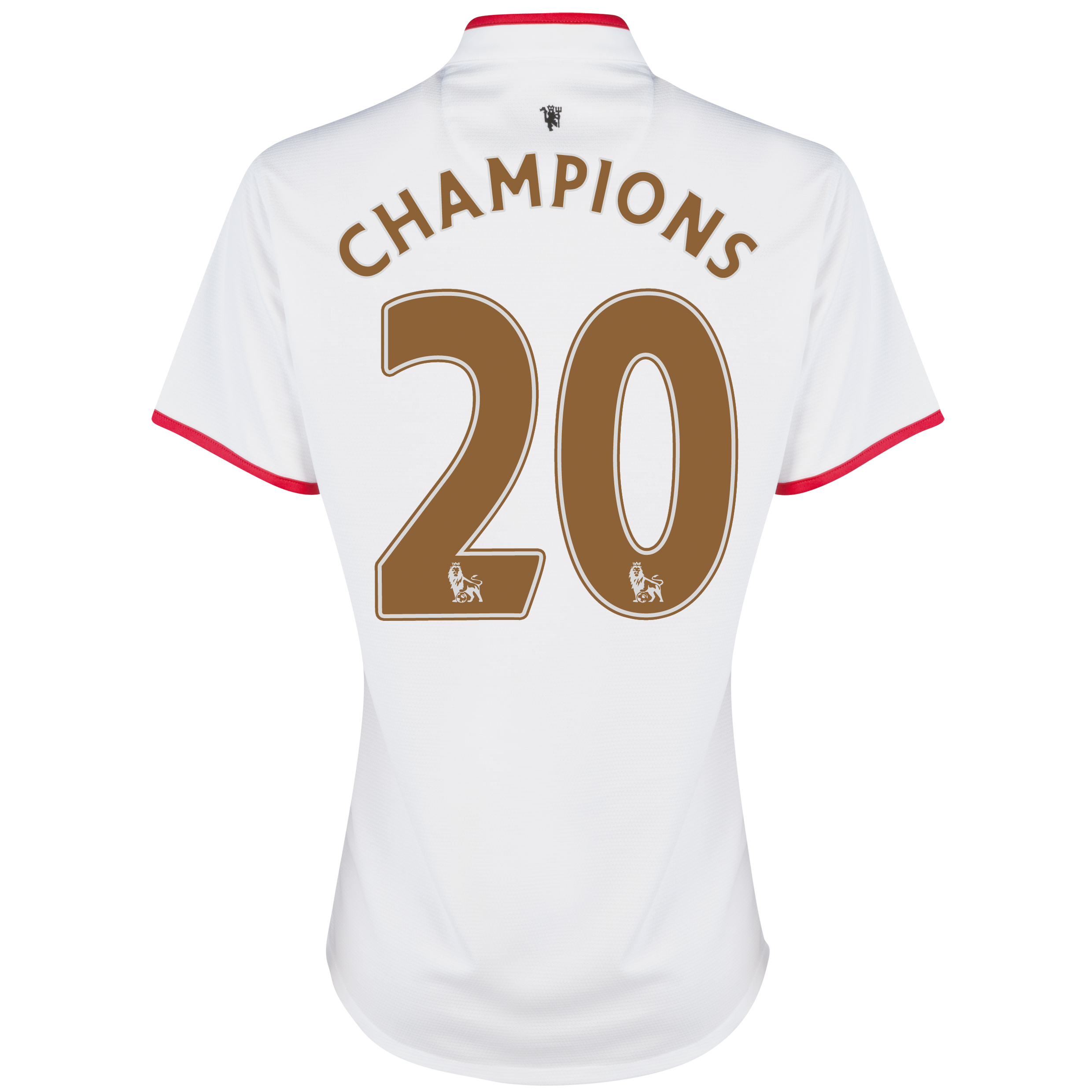 Manchester United Away Shirt 2012/13 - Womens with Champions 20 printing