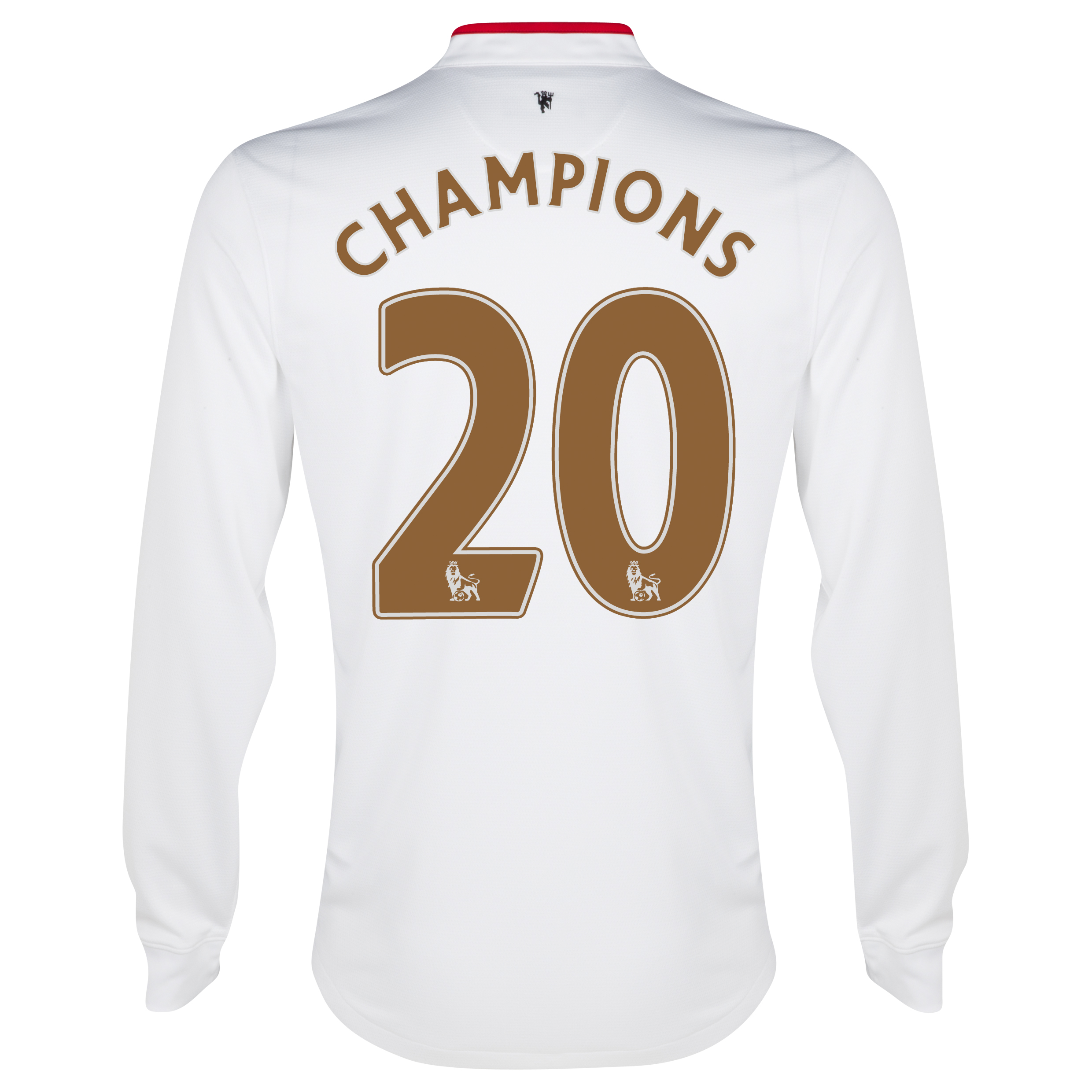 Manchester United Away Shirt 2012/13 - Long Sleeved - Kids with Champions 20 printing